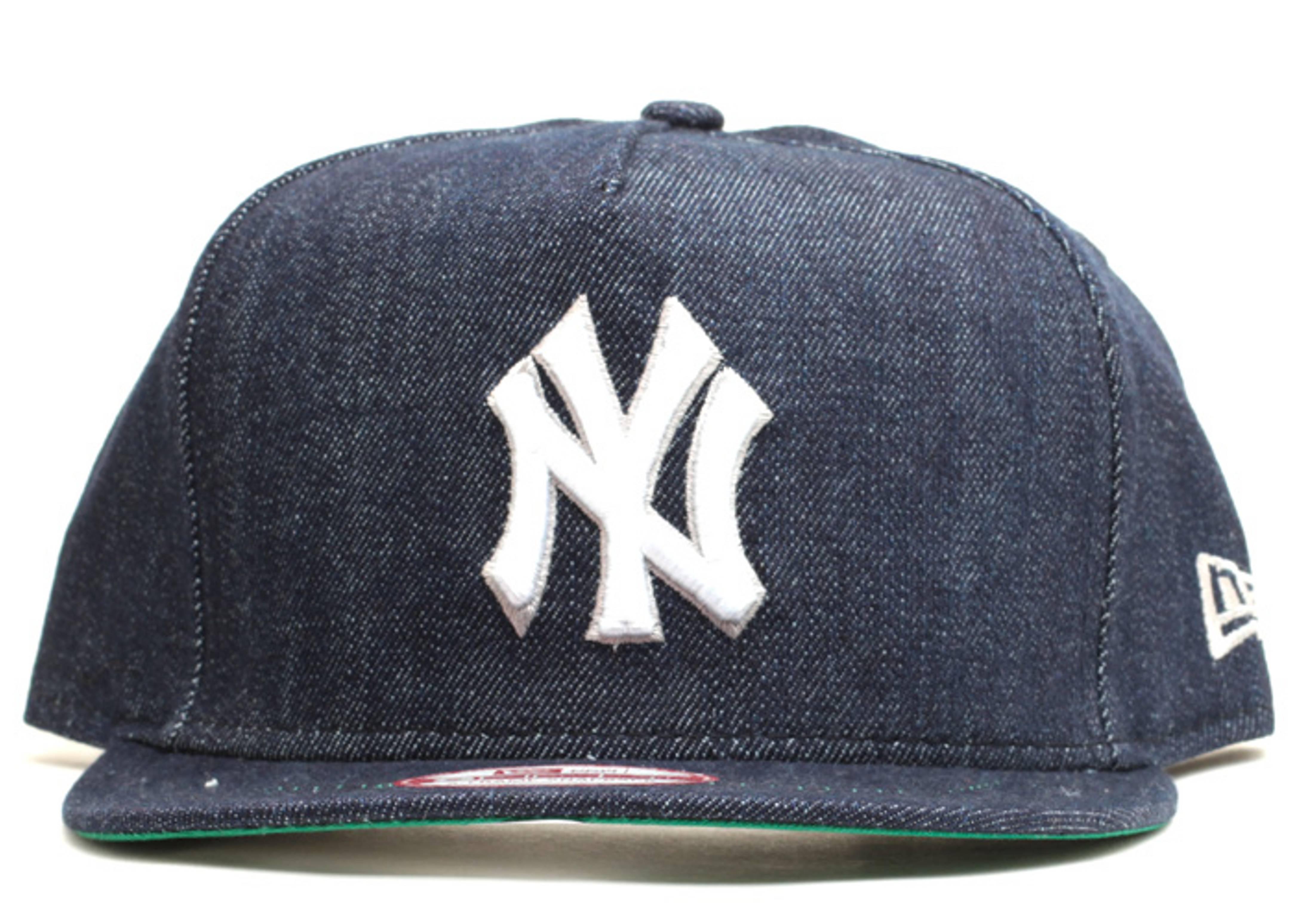 new york yankees denim snap-back