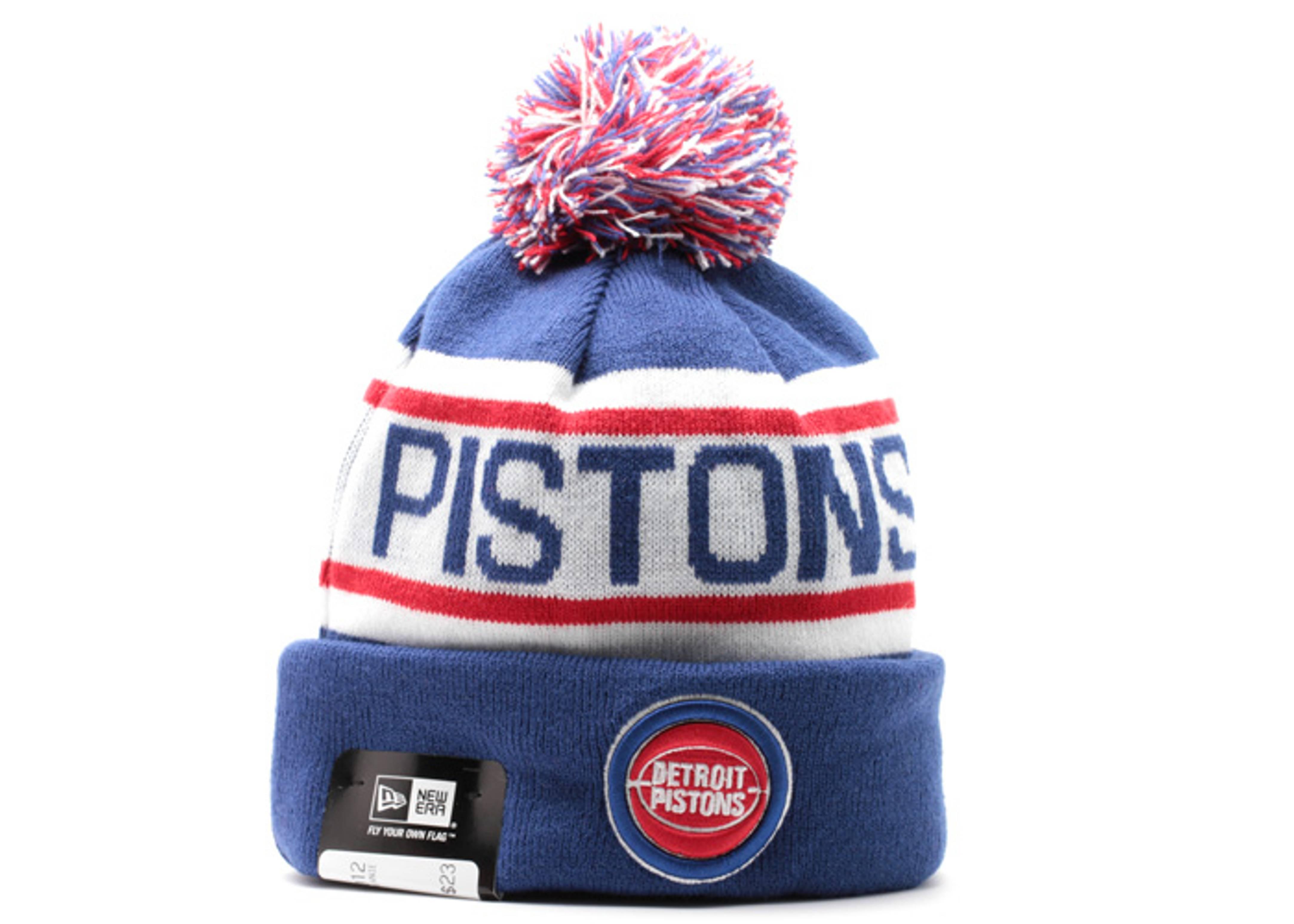 the best attitude 29a62 35424 ... discount code for detroit pistons cuffed pom knit beanie 224d3 da431