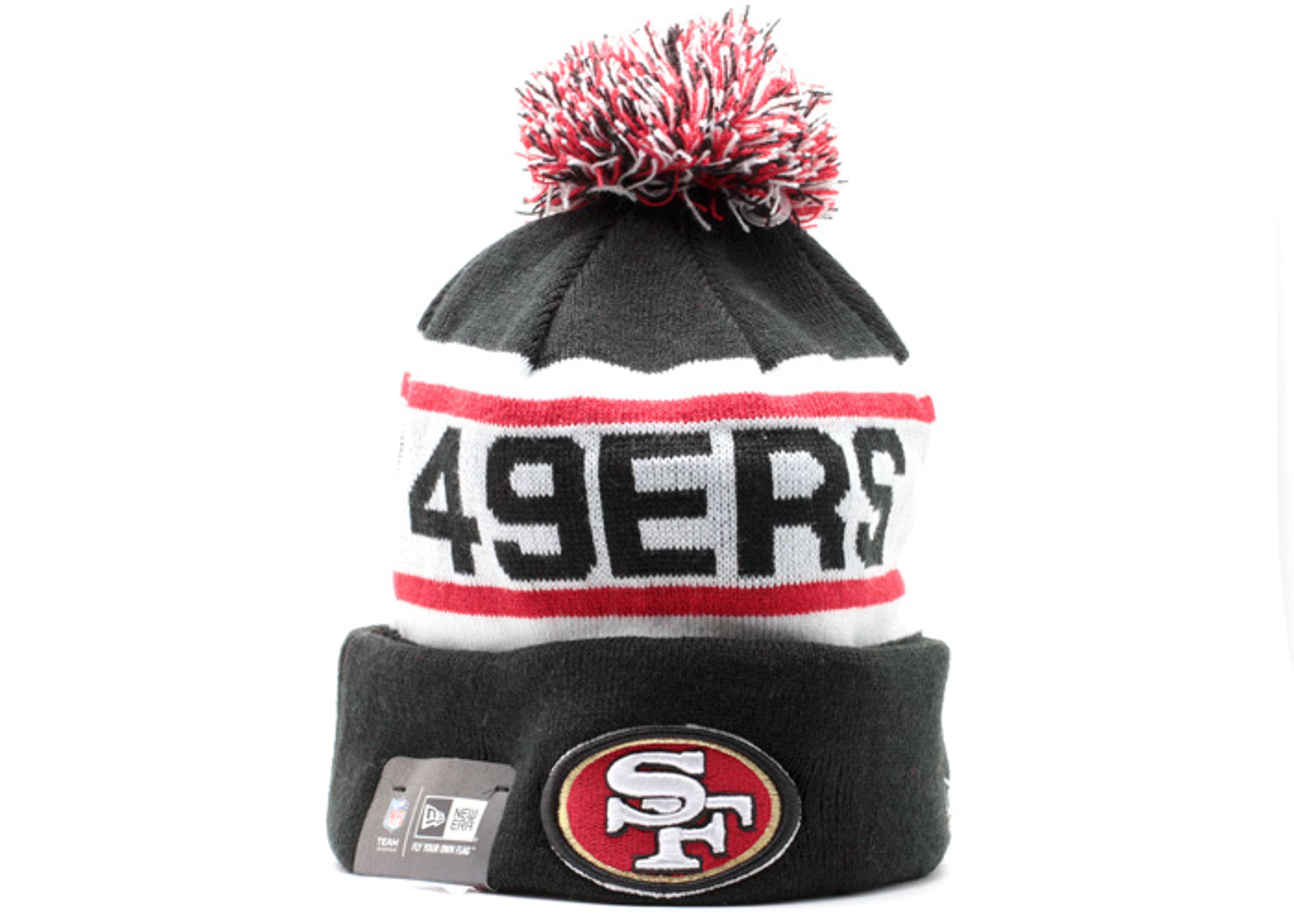 san francisco 49ers cuffed pom knit beanie