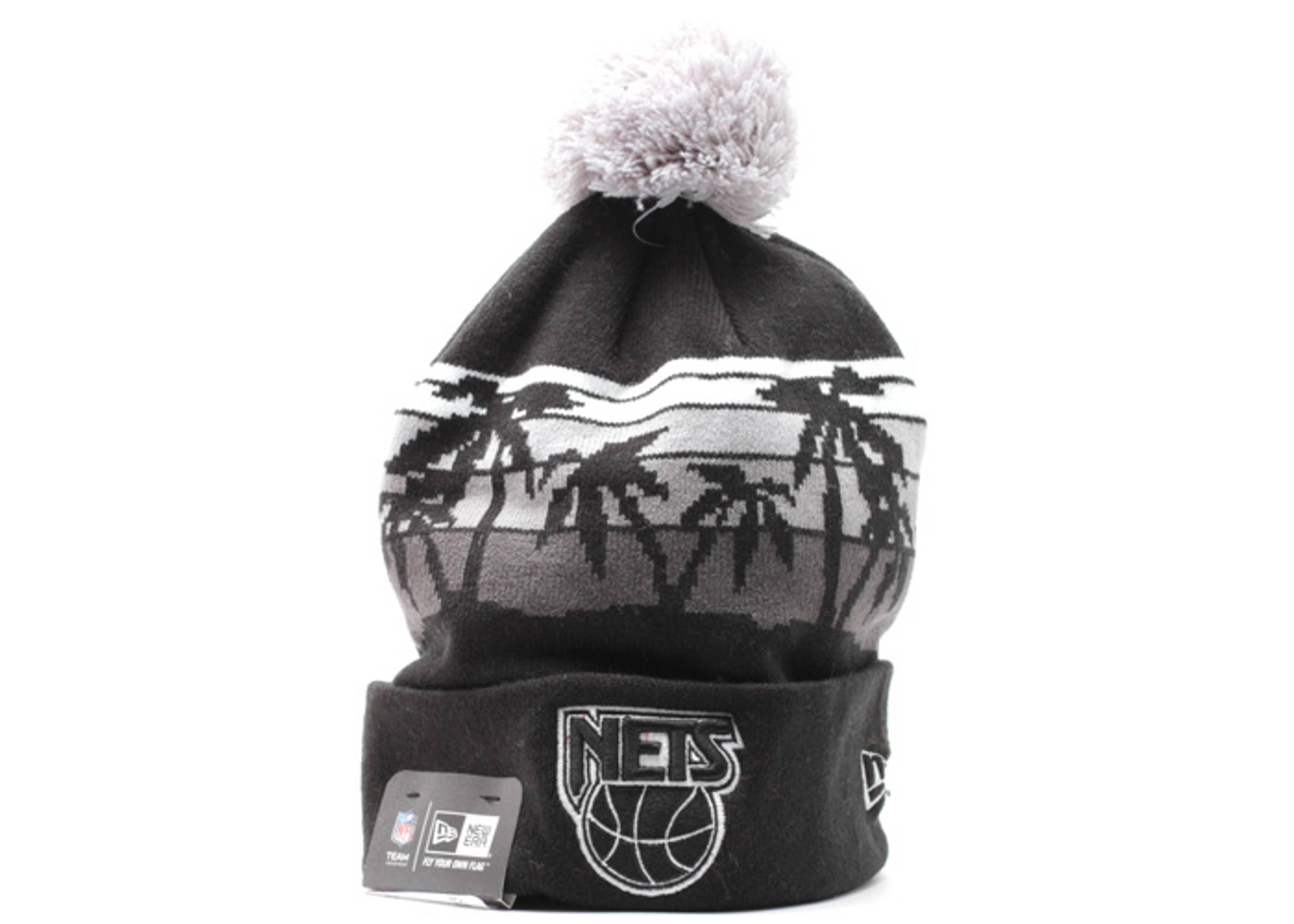 """new jersey nets cuffed pom net beanie """"wintertide"""""""
