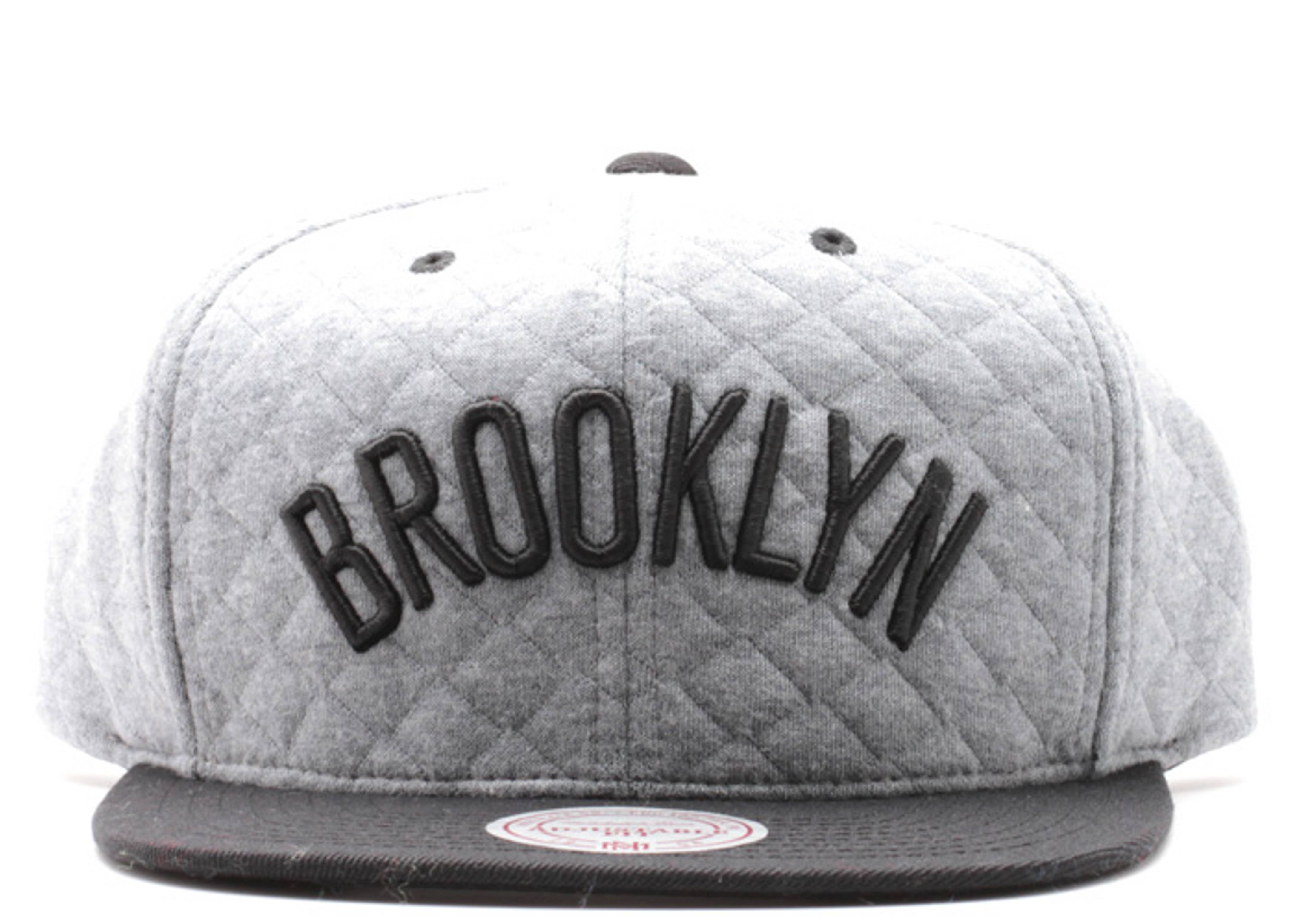 """brooklyn nets snap-back """"quilted"""""""