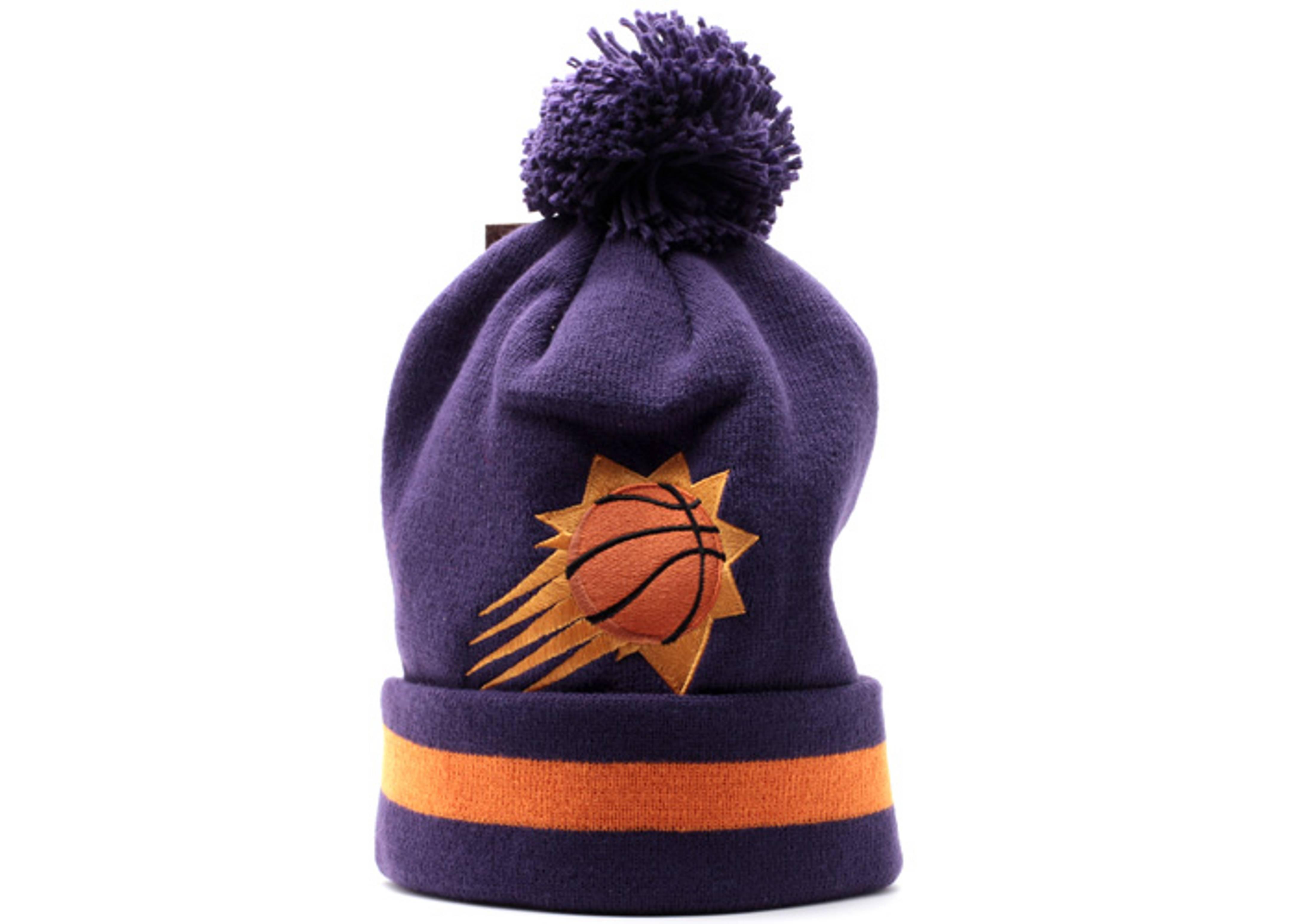 phoenix suns cuffed pom knit beanie