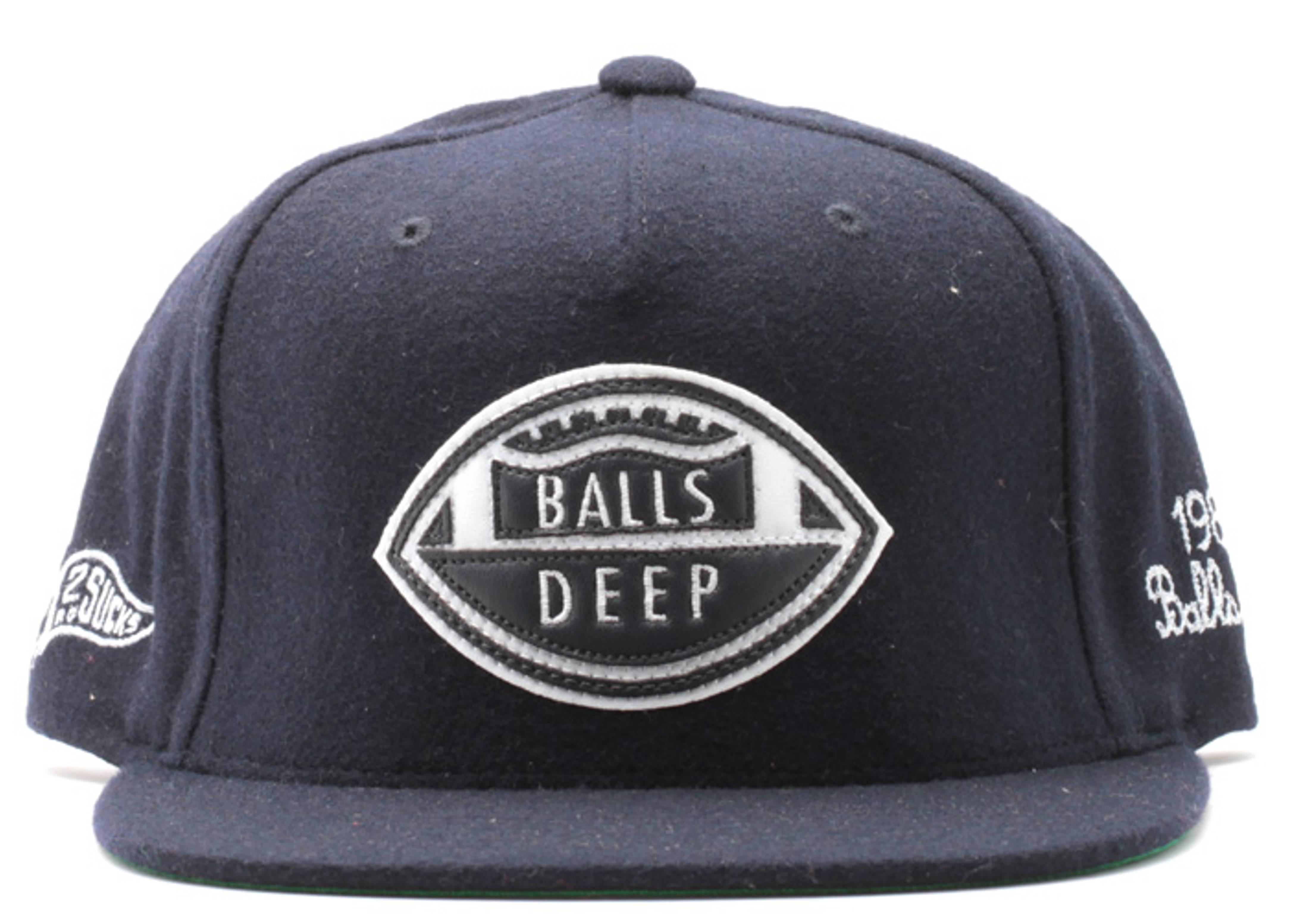 balls deep melton wool snap-back