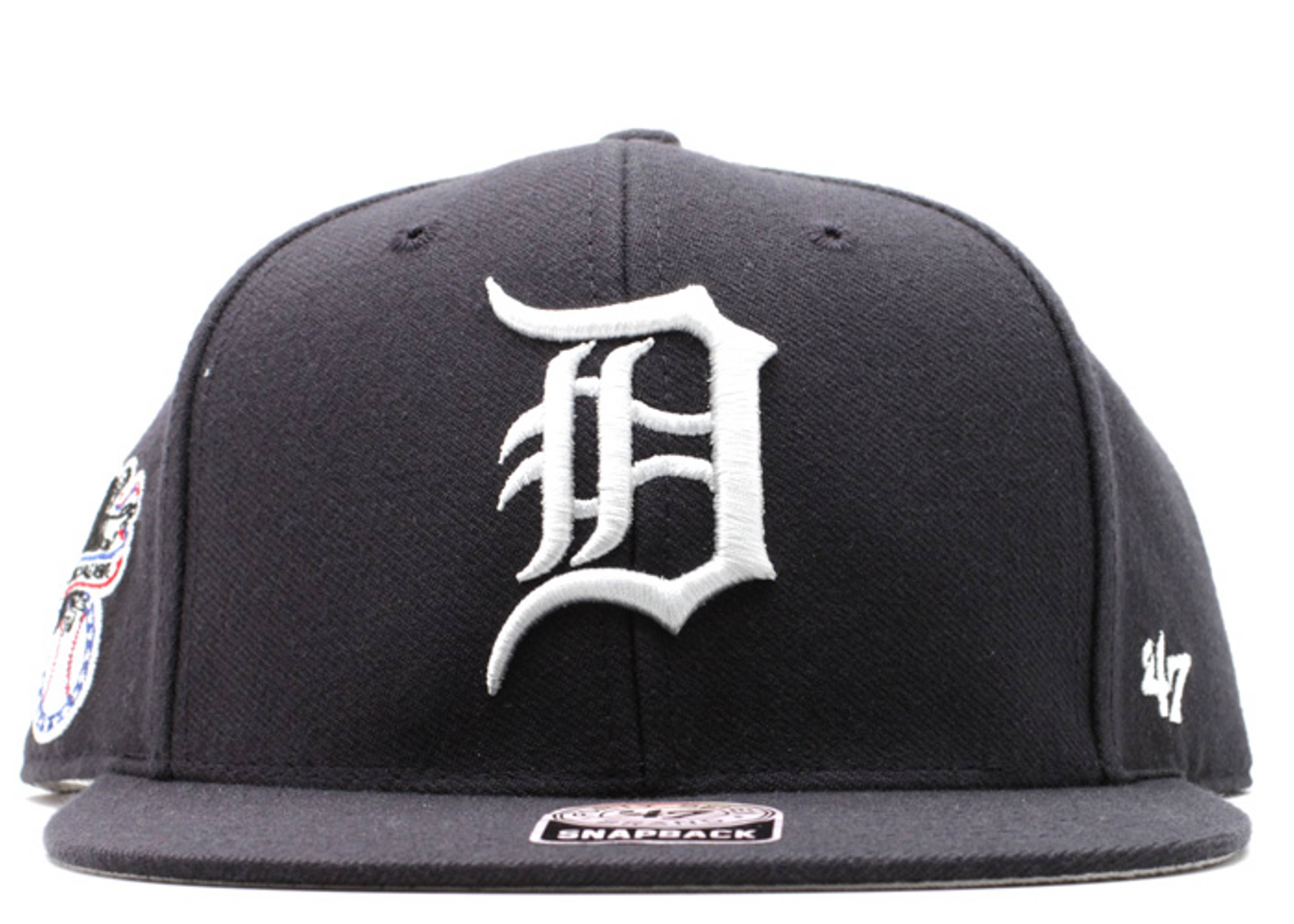 "detroit tigers snap-back ""american league side patch"""