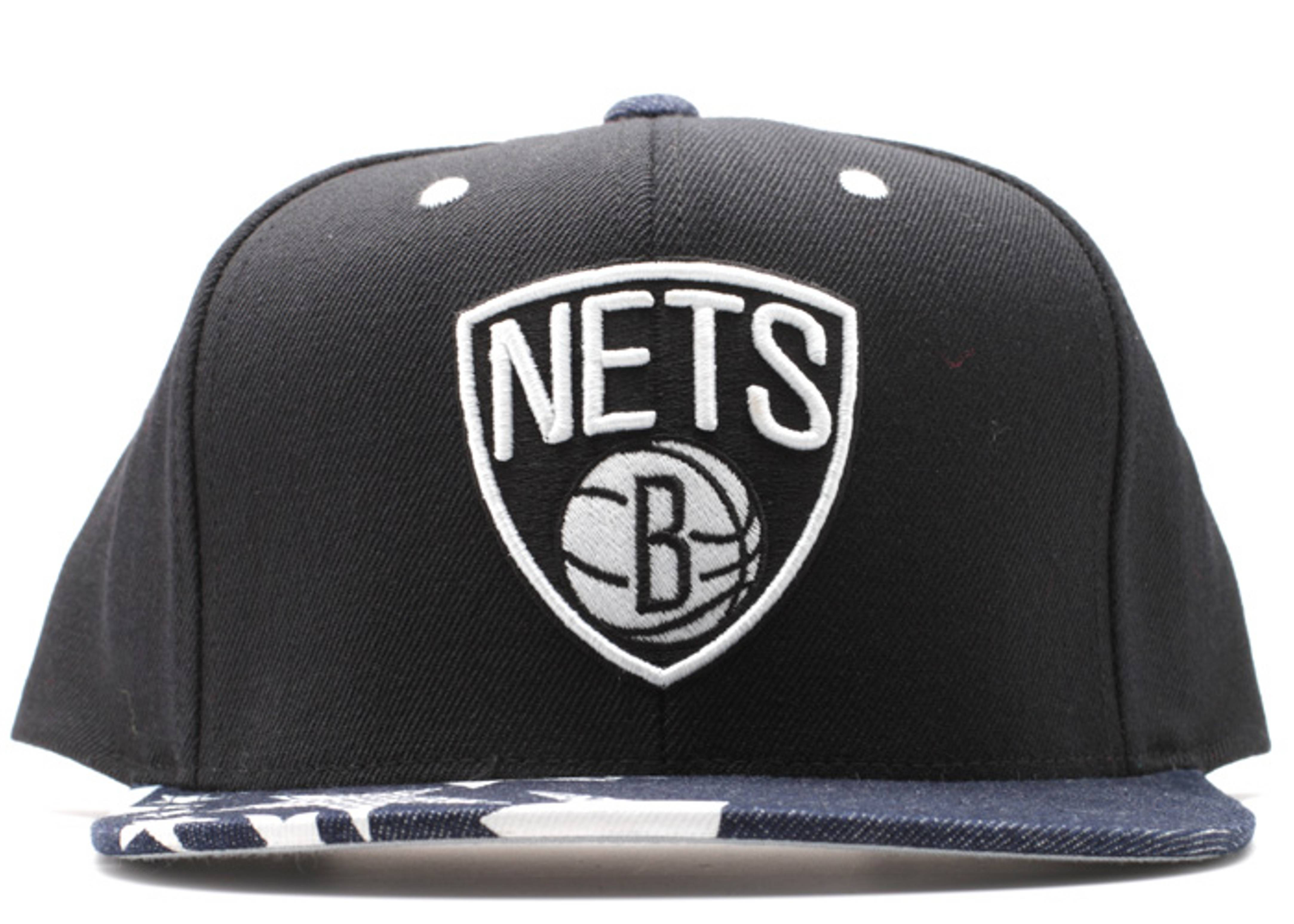 "brooklyn nets snap-back ""stars"""