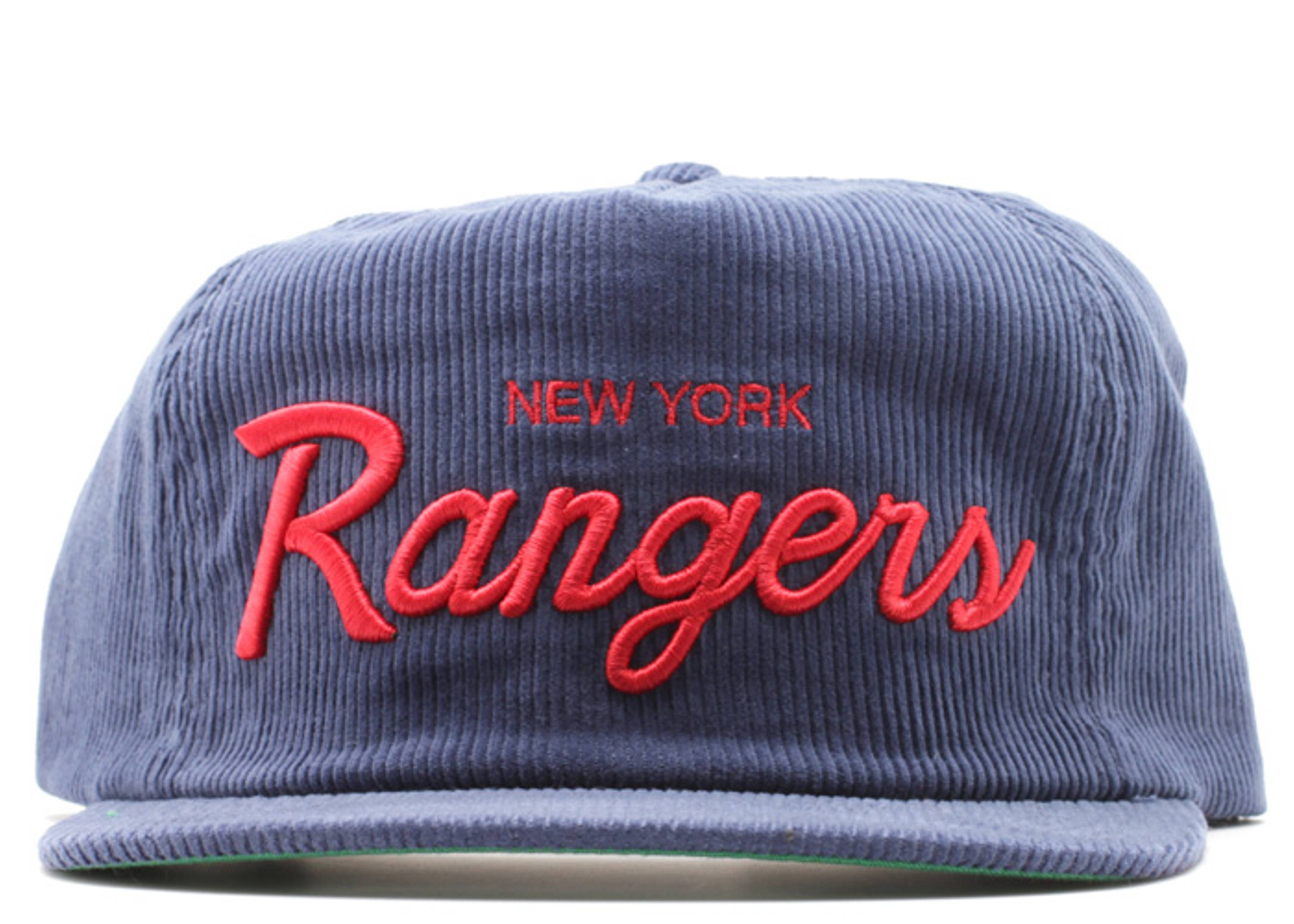 new york rangers corduroy zip-back