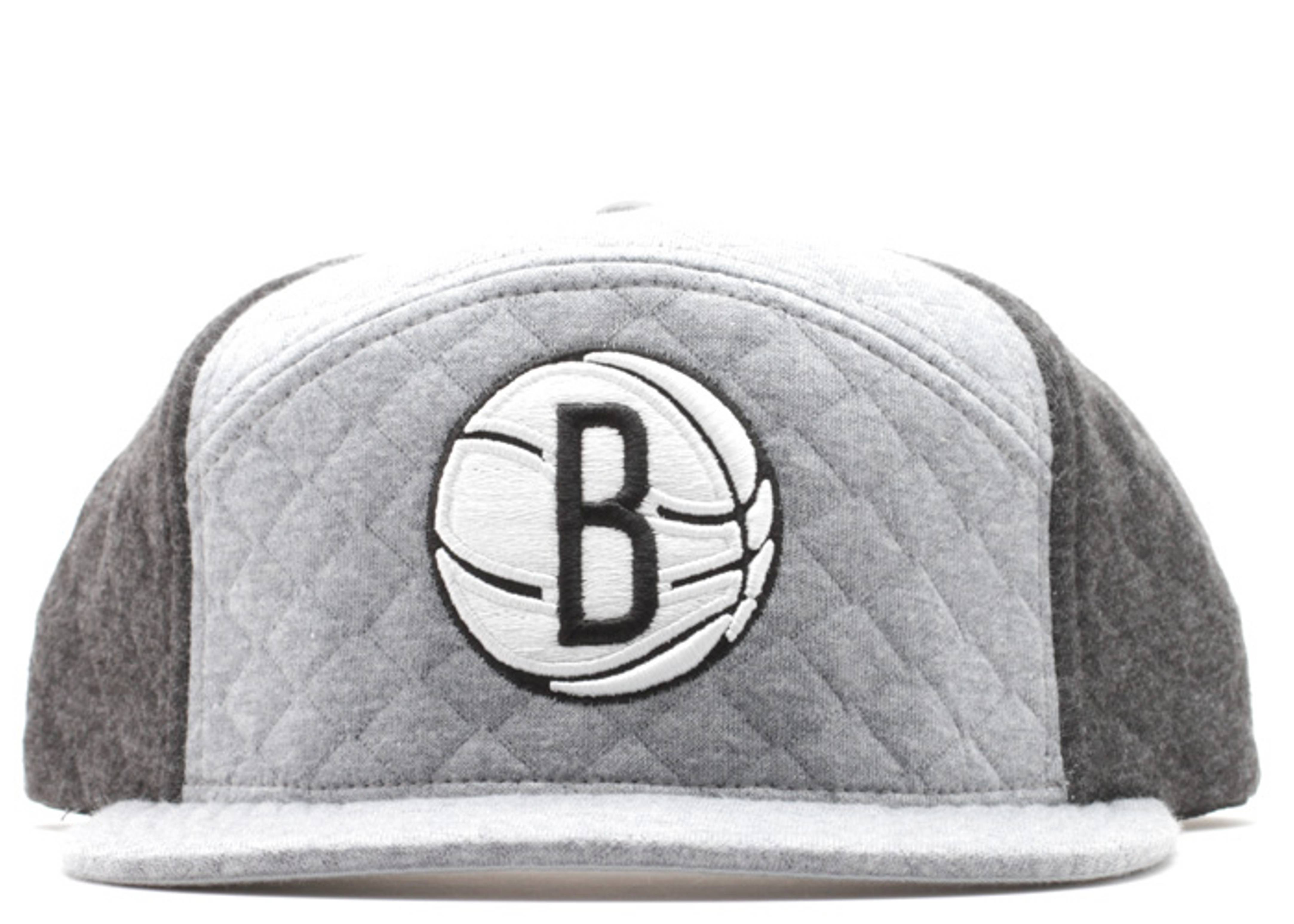"brooklyn nets 6-panel snap-back ""quilted"""