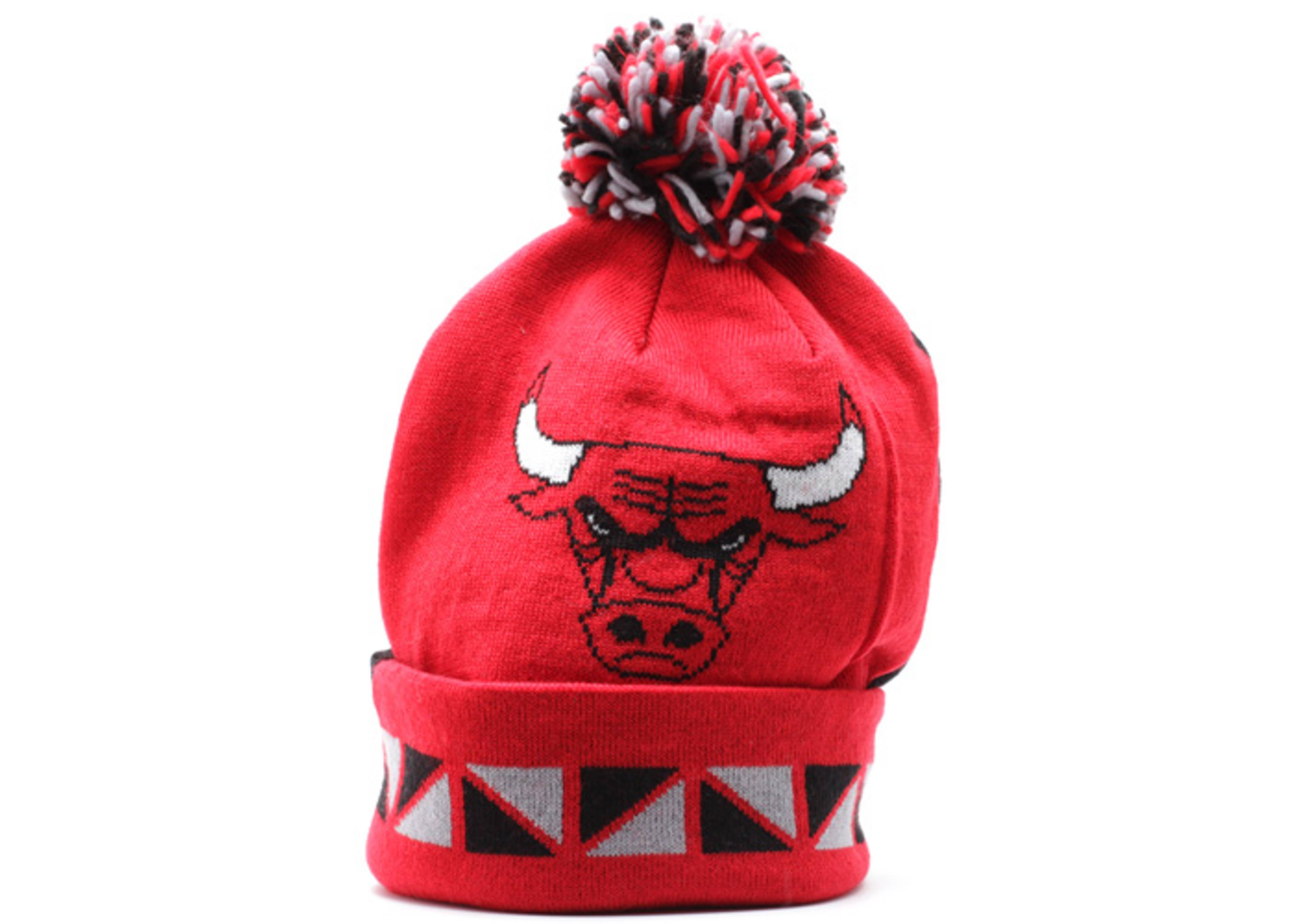 Mitchell /& Ness Chicago Bulls Pom Beanie