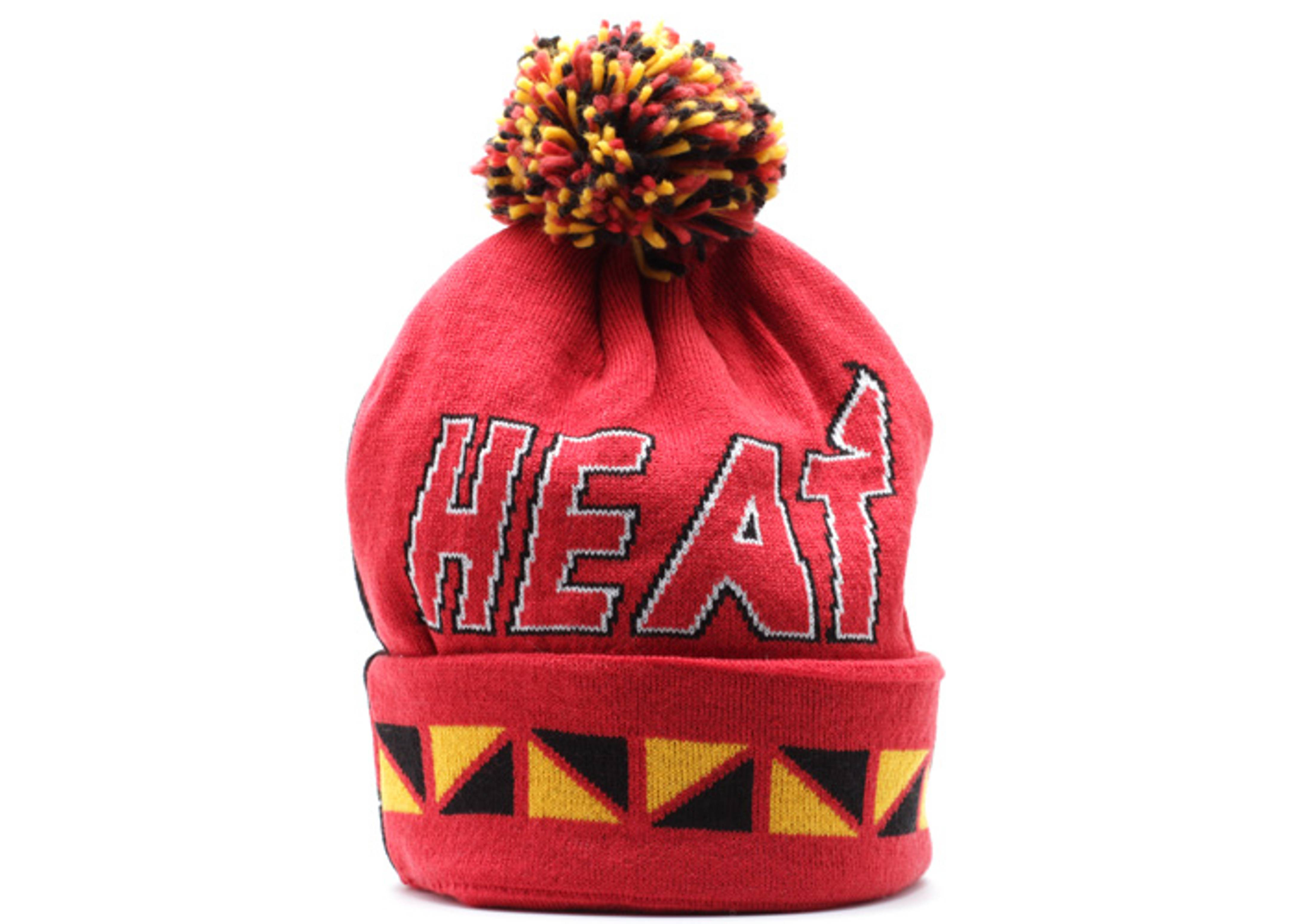 cheaper c060a 15c3e ... coupon code for miami heat cuffed pom knit beanie bf26e 65b59