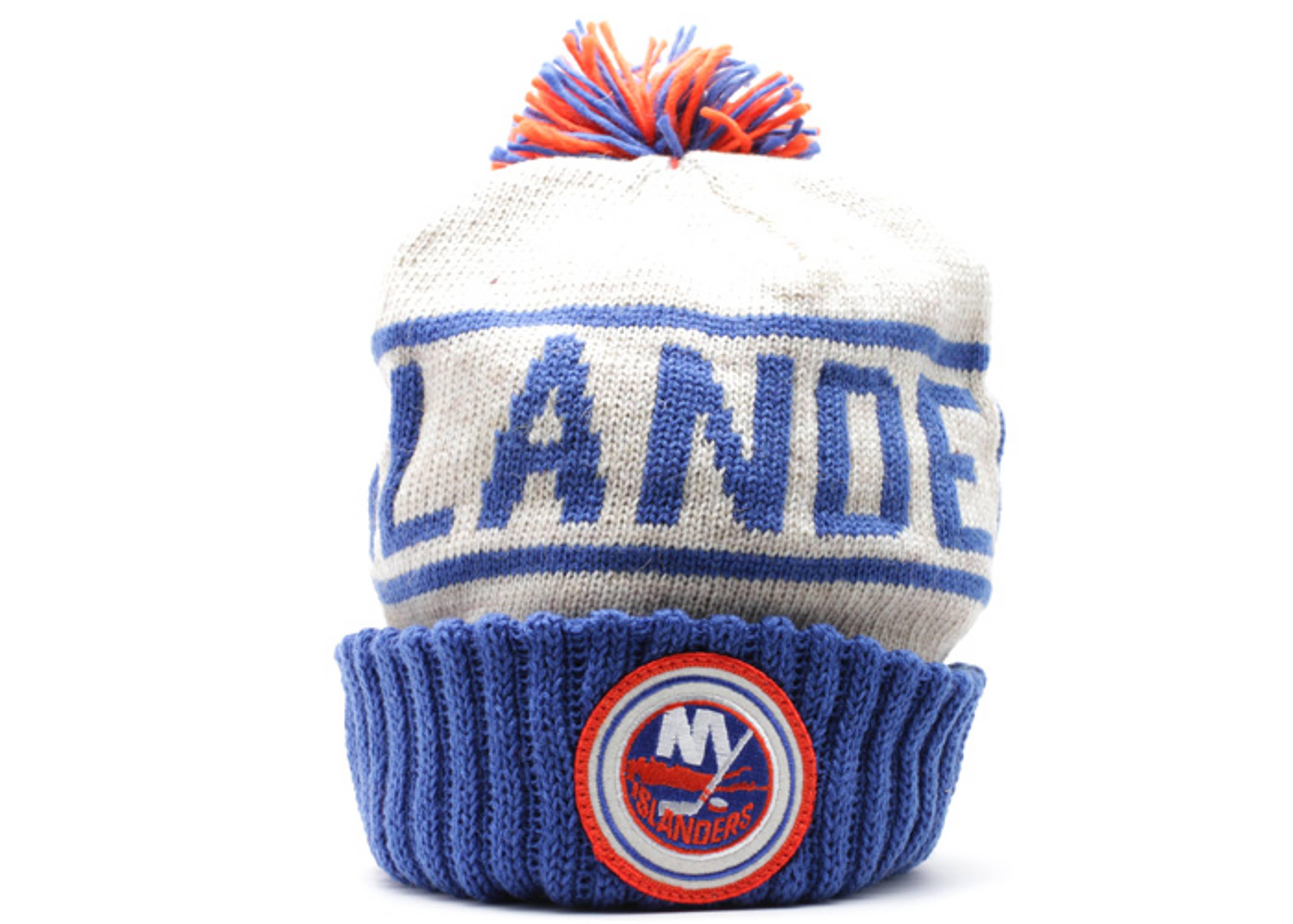 new york islanders cuffed pom knit beanie