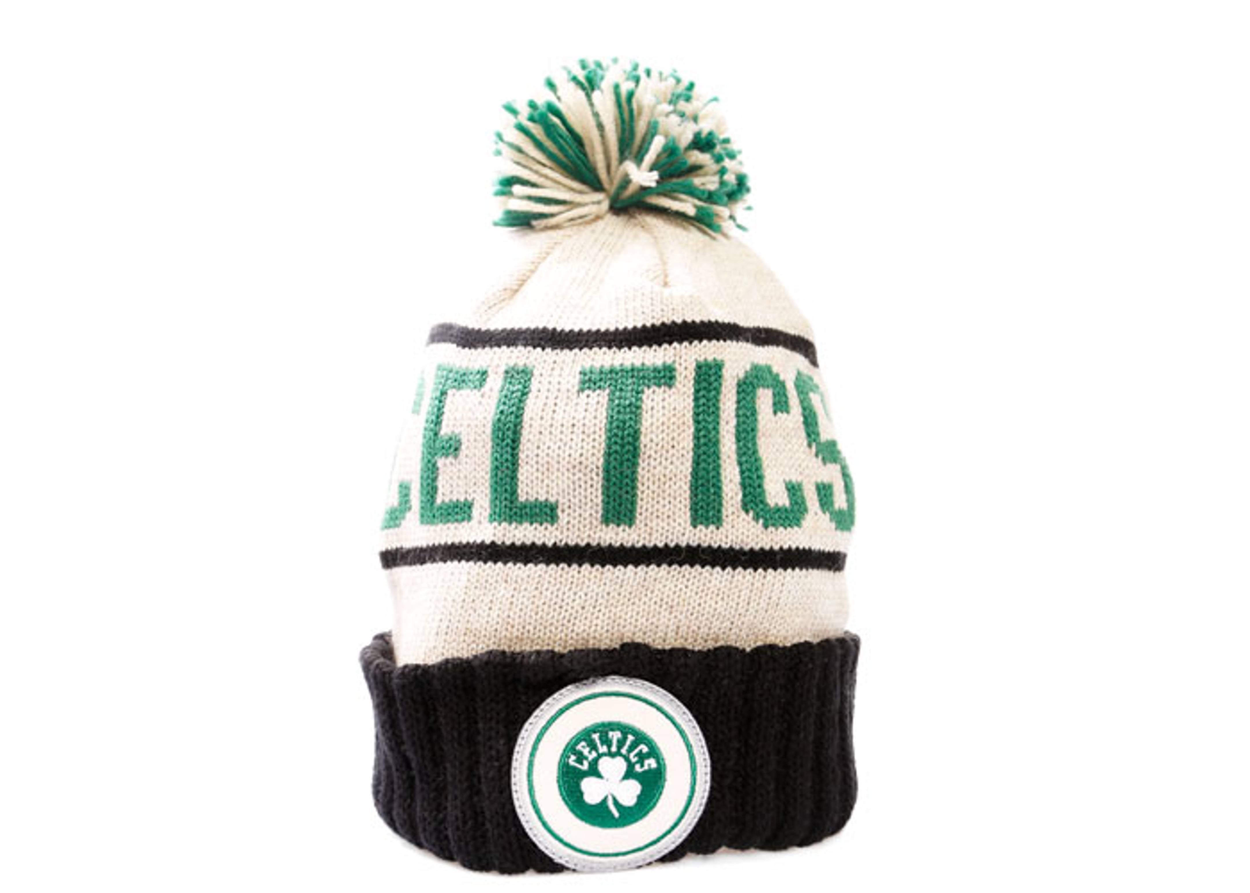 a6a00b7a984 Boston Celtics Cuffed Pom Knit Beanie - Mitchell   Ness ...