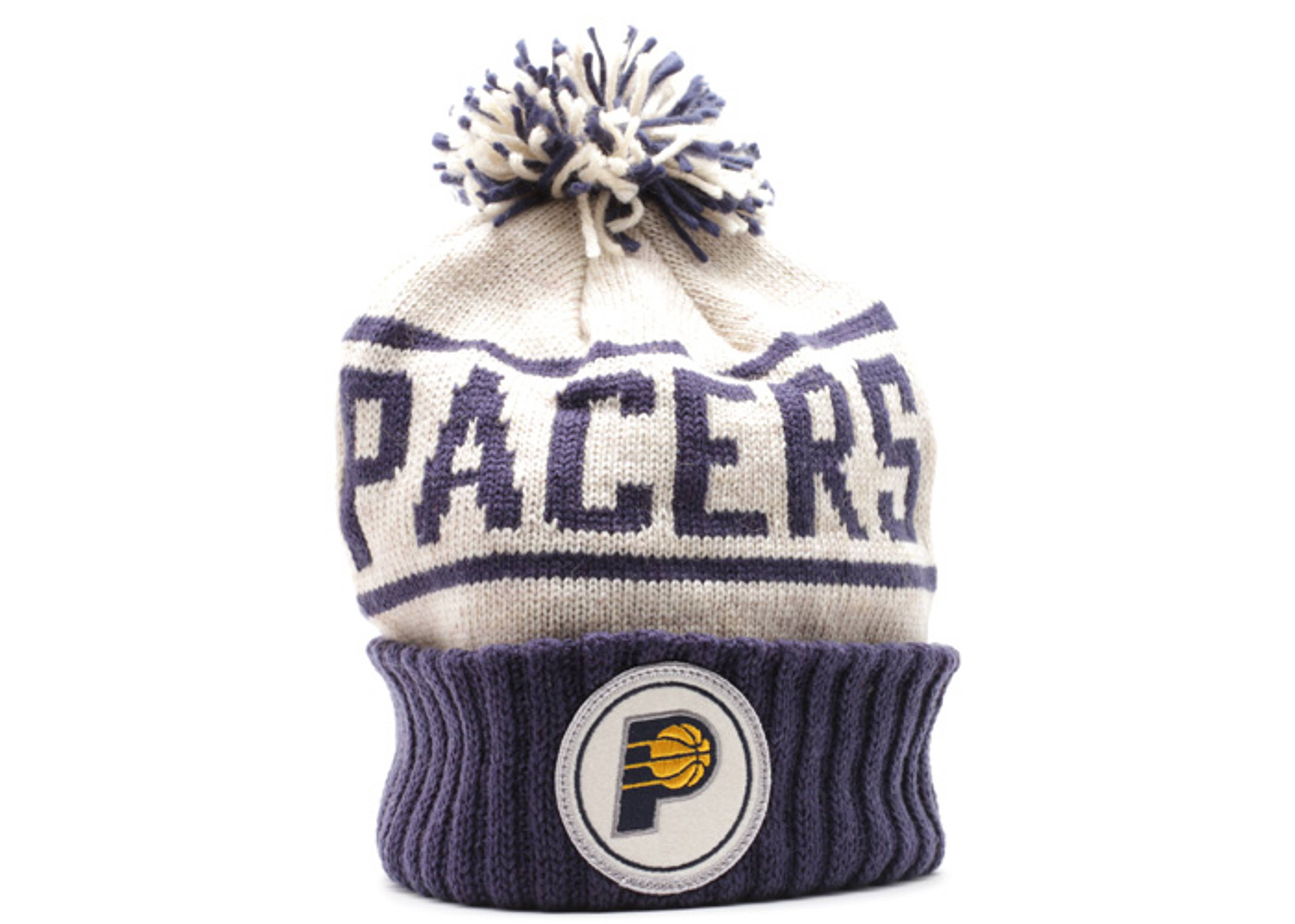 indiana pacers cuffed pom knit beanie
