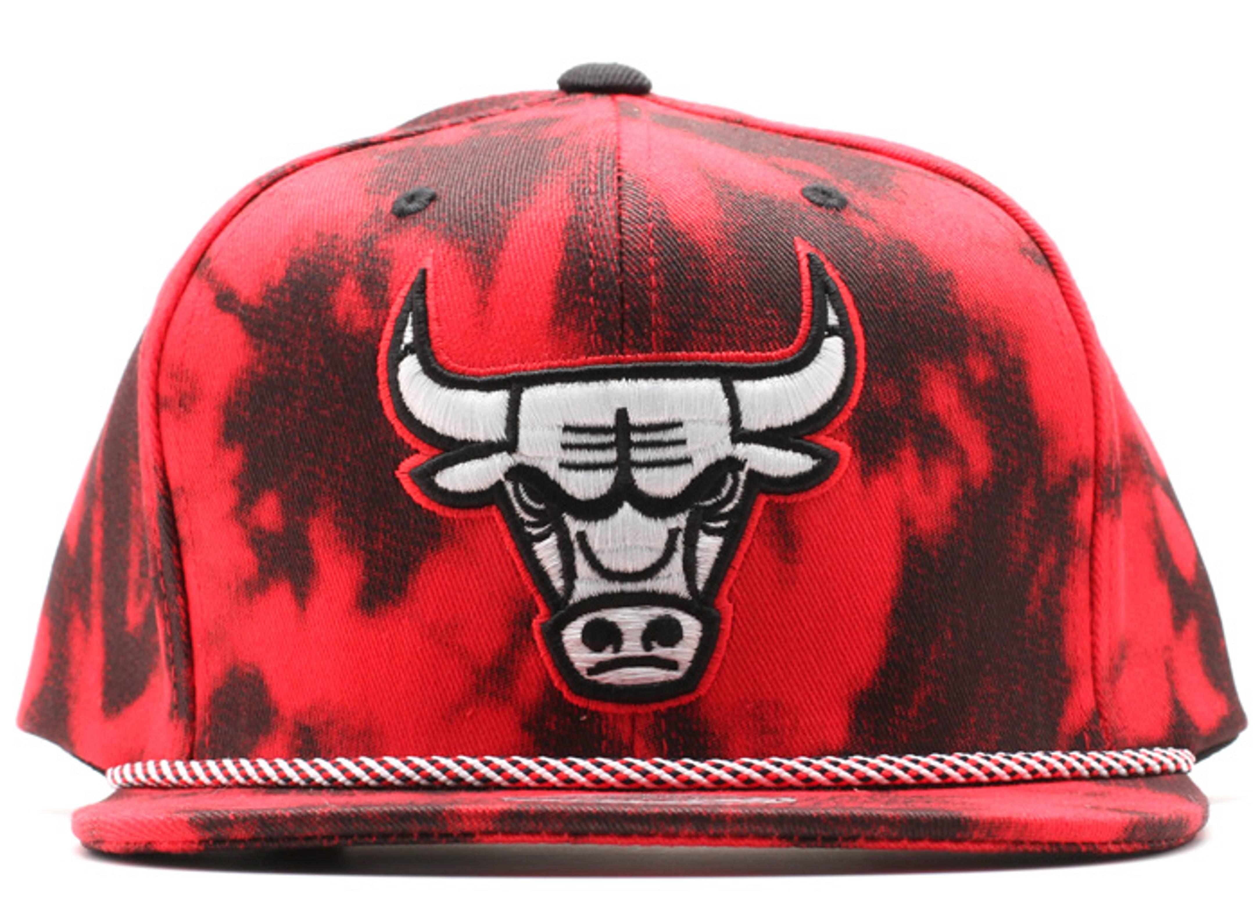 """chicago bulls denim snap-back """"red acid wash"""""""