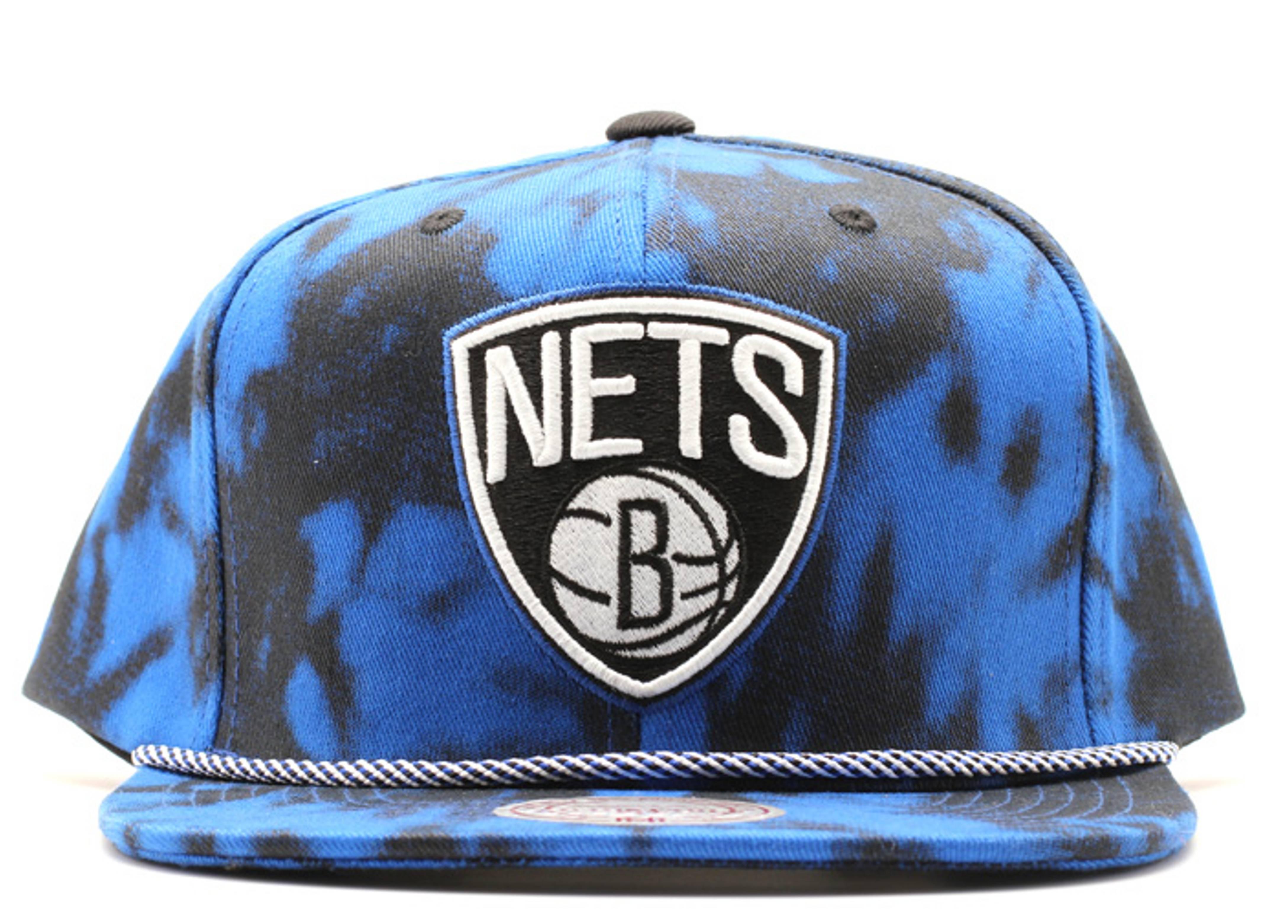 """brooklyn nets denim snap-back """"blue acid wash"""""""