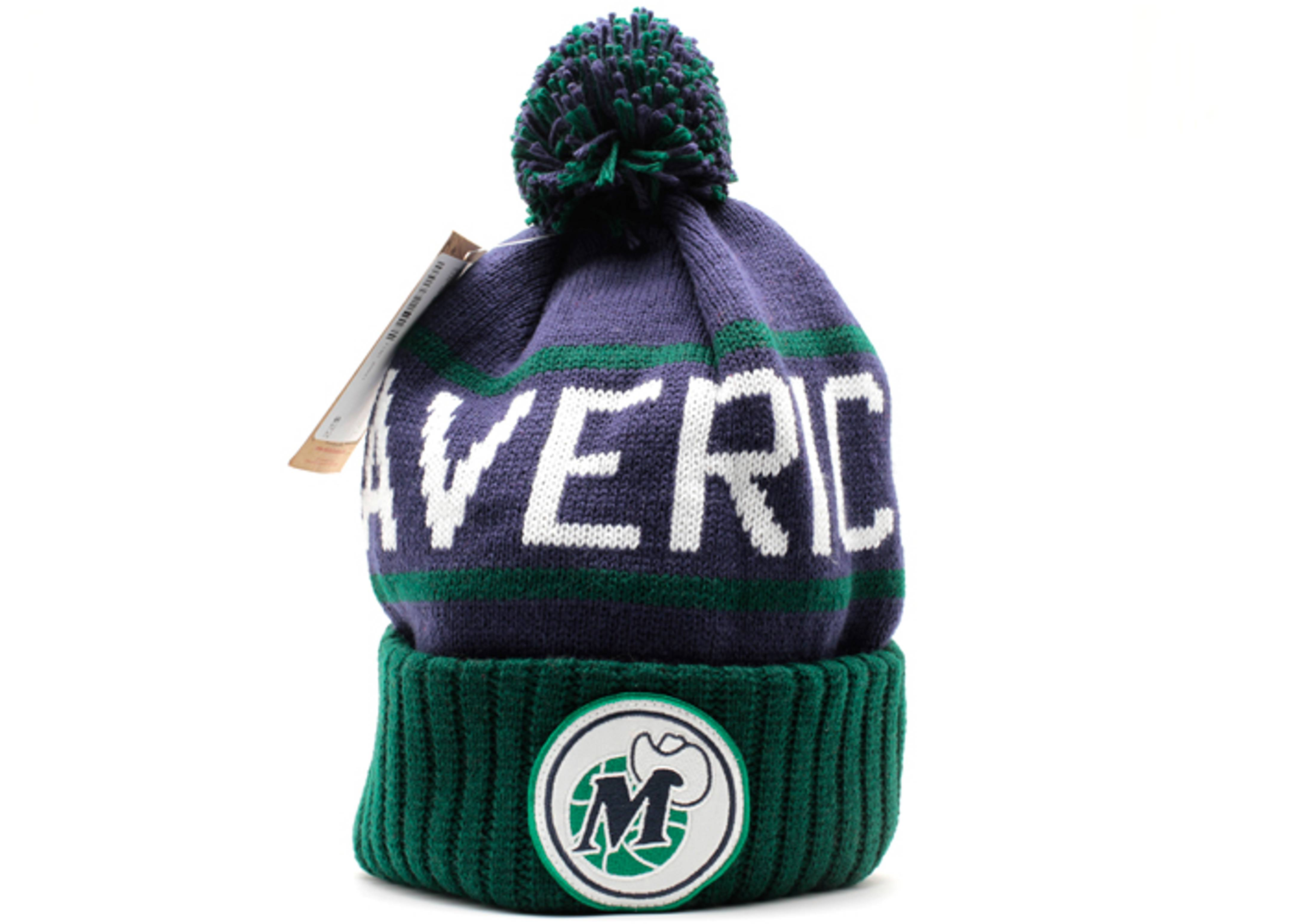 dallas mavericks cuffed pom knit beanie