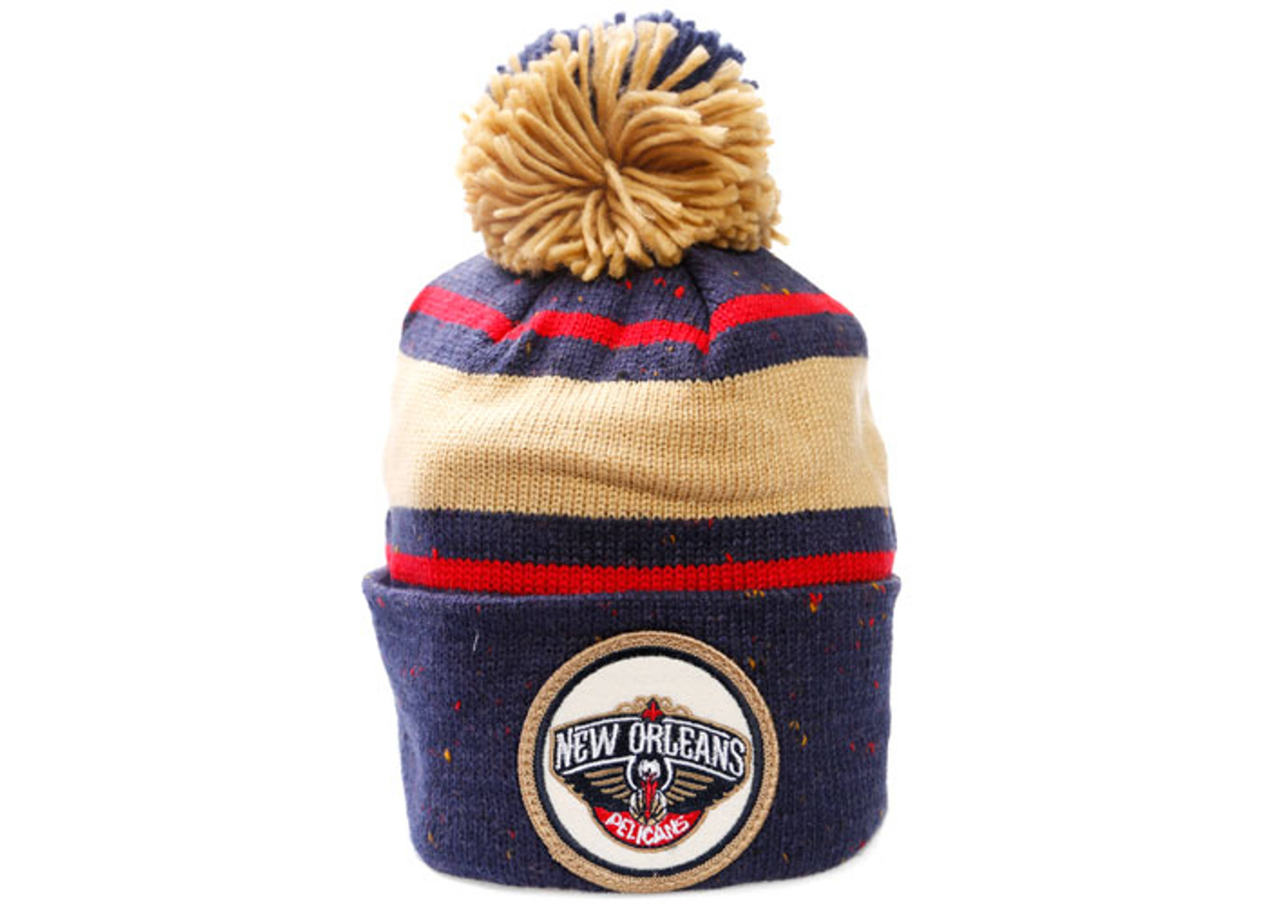 new orleans cuffed pom knit beanie