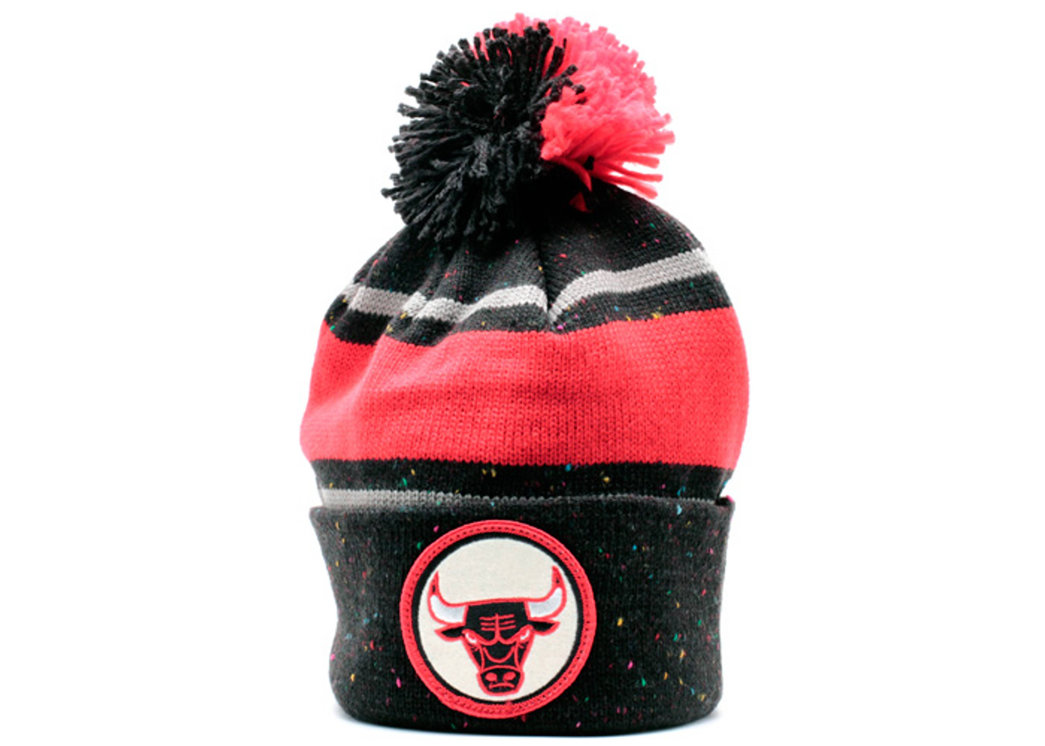 chicago bulls cuffed knit beanie