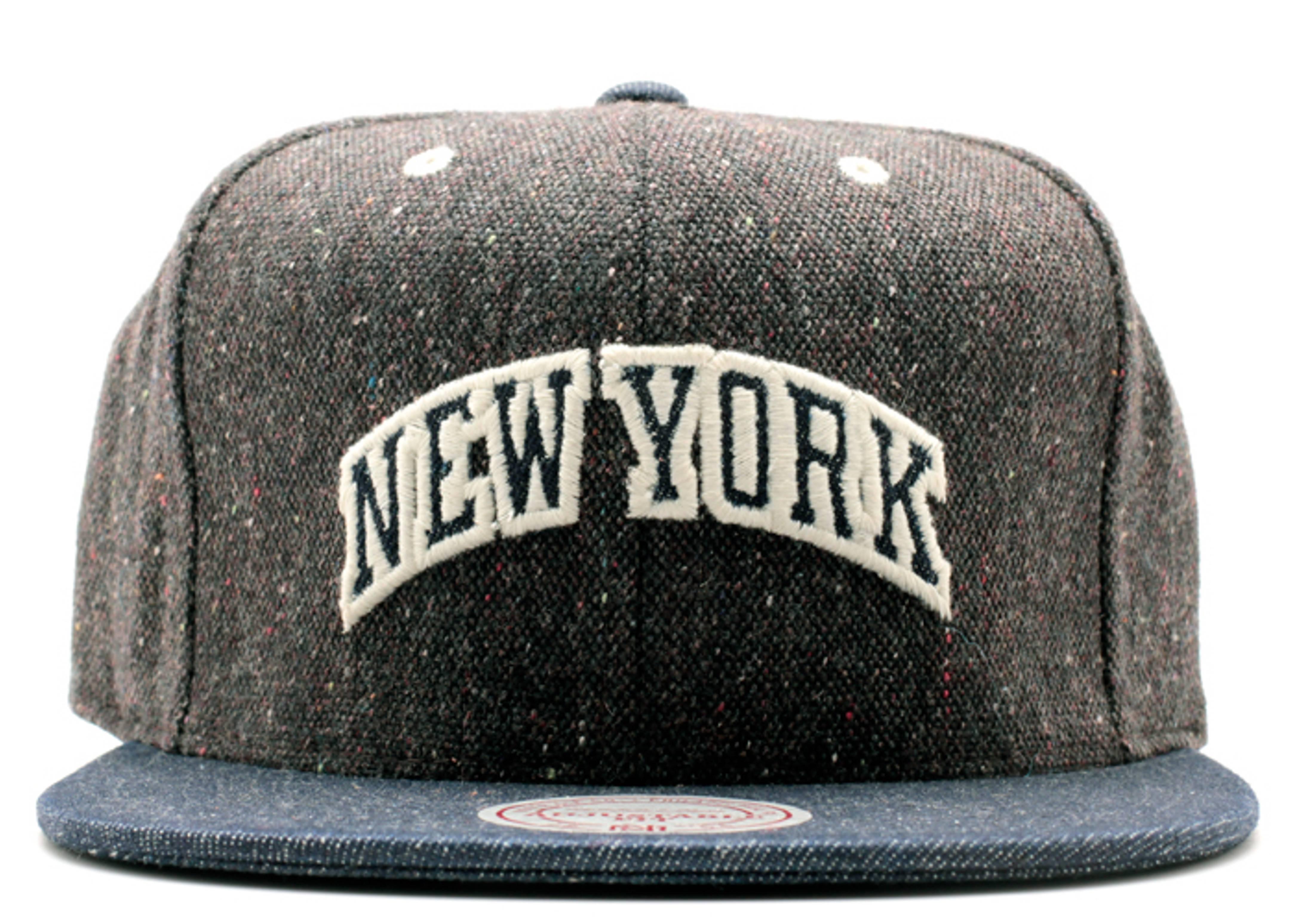 new york knicks tweed strap-back