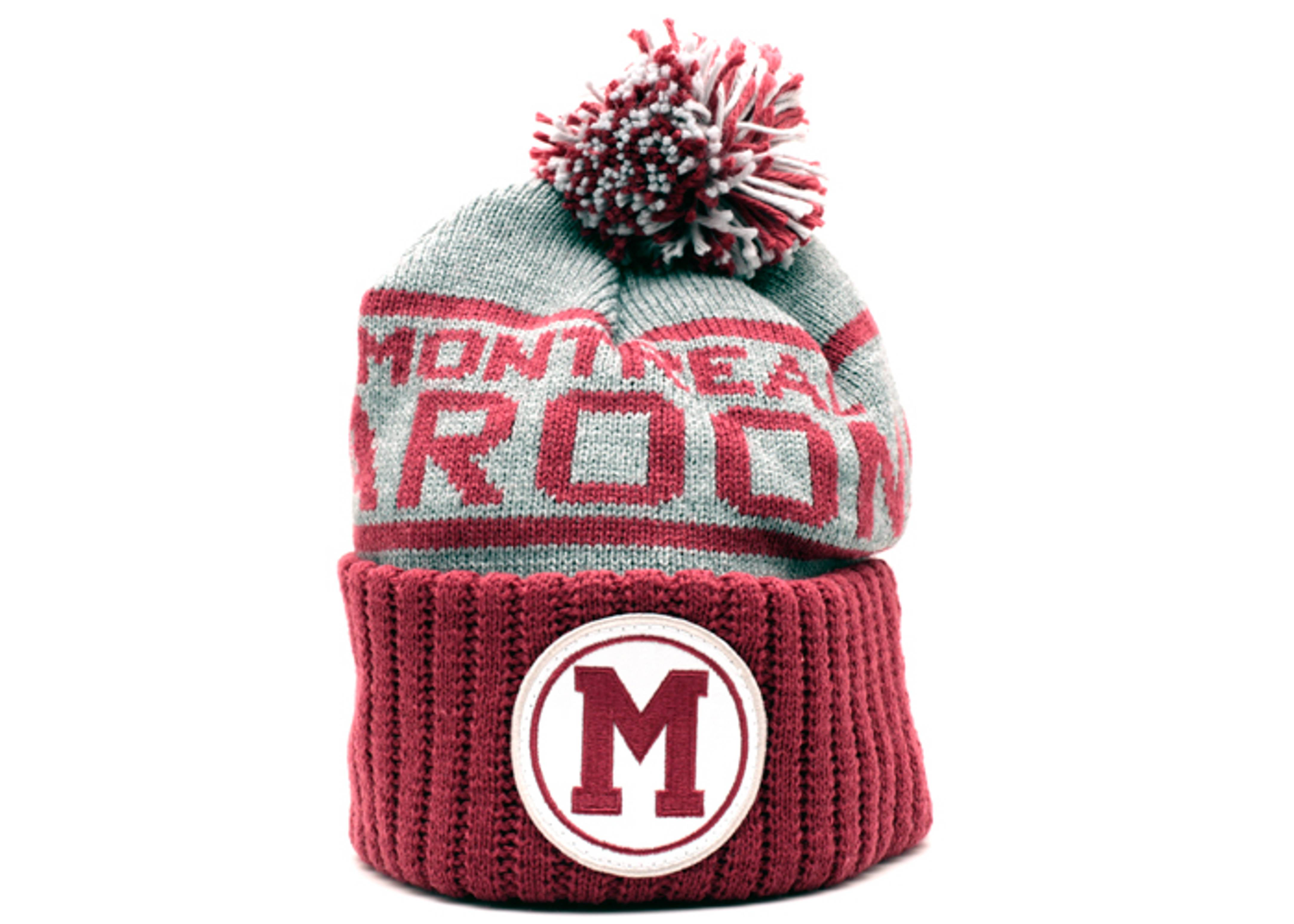 montreal maroons cuffed pom knit beanie
