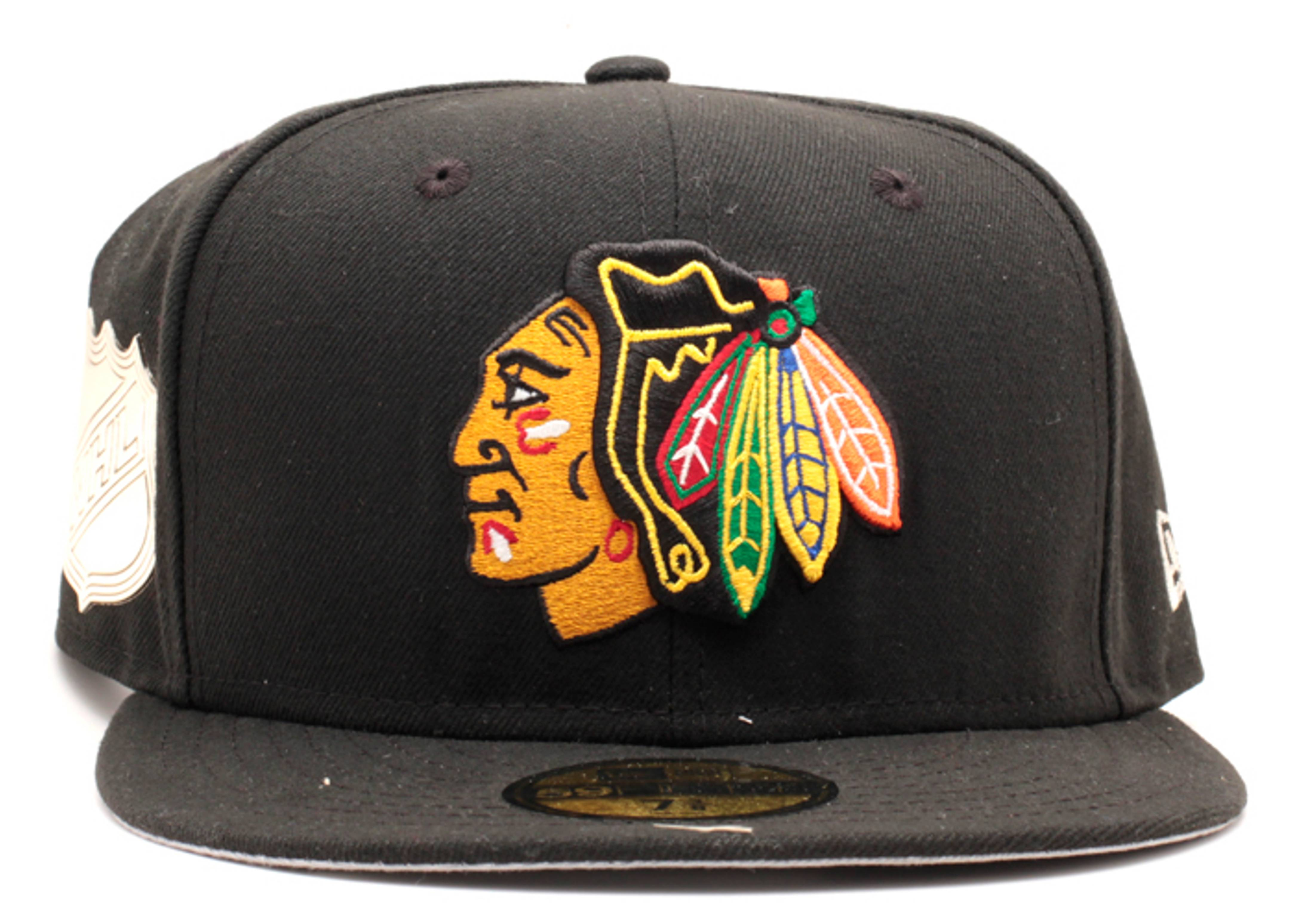 """chicago blackhawks fitted """"metallic side patch"""""""