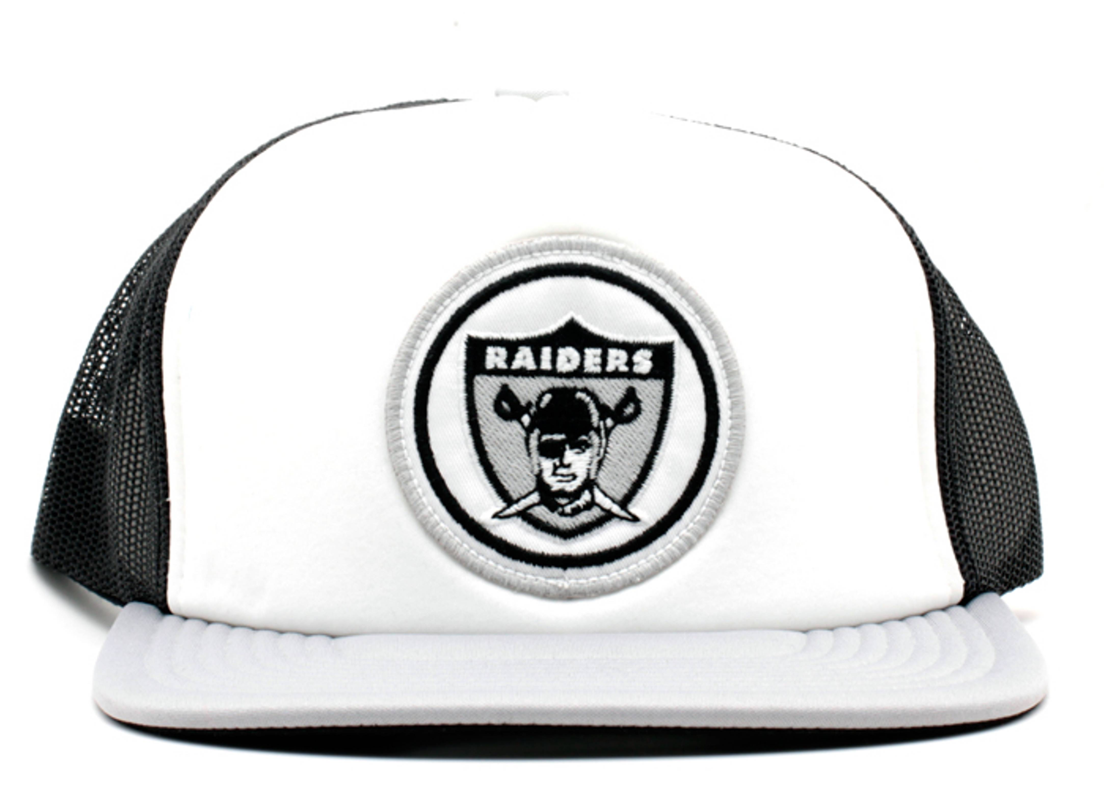 oakland raiders foam front mesh trucker snap-back