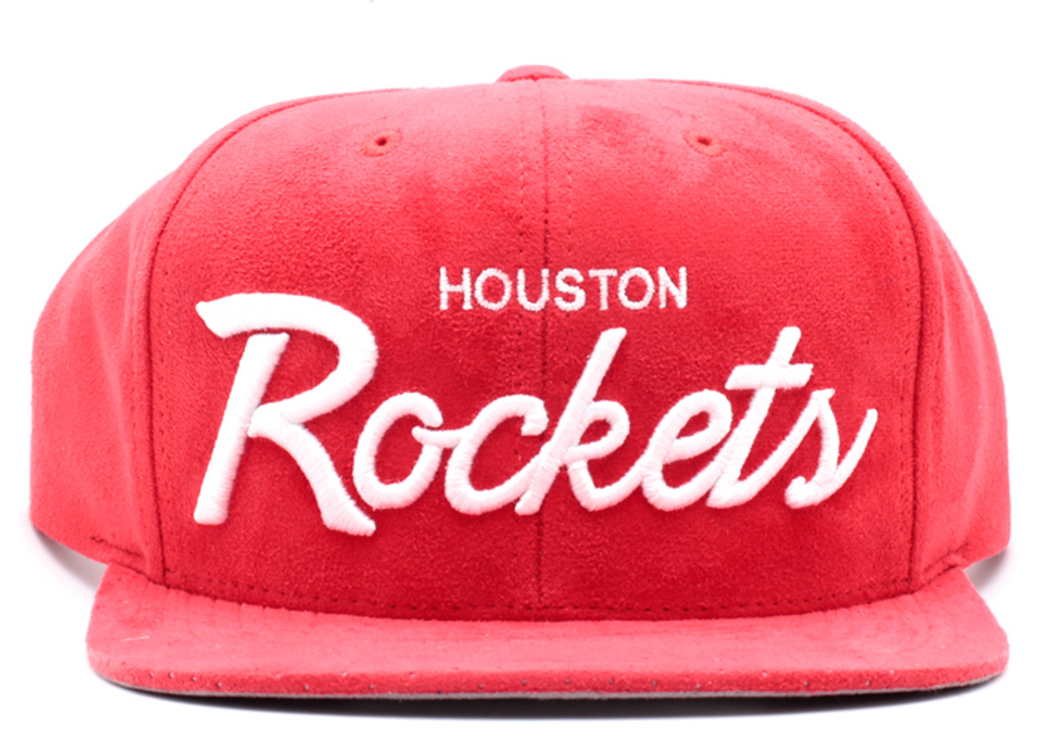 houston rockets micro suede snap-back