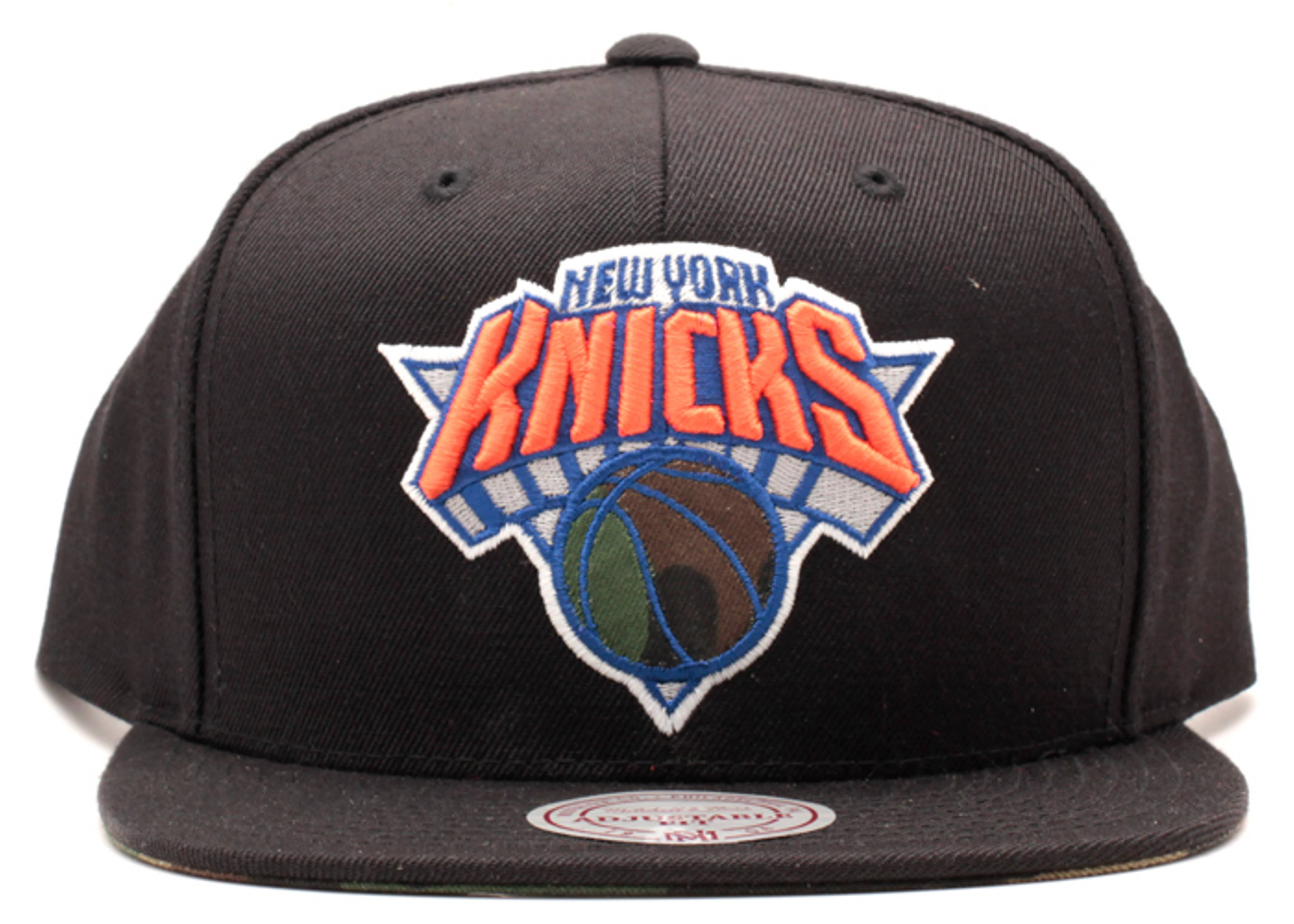 "new york knicks snap-back ""camo ball"""