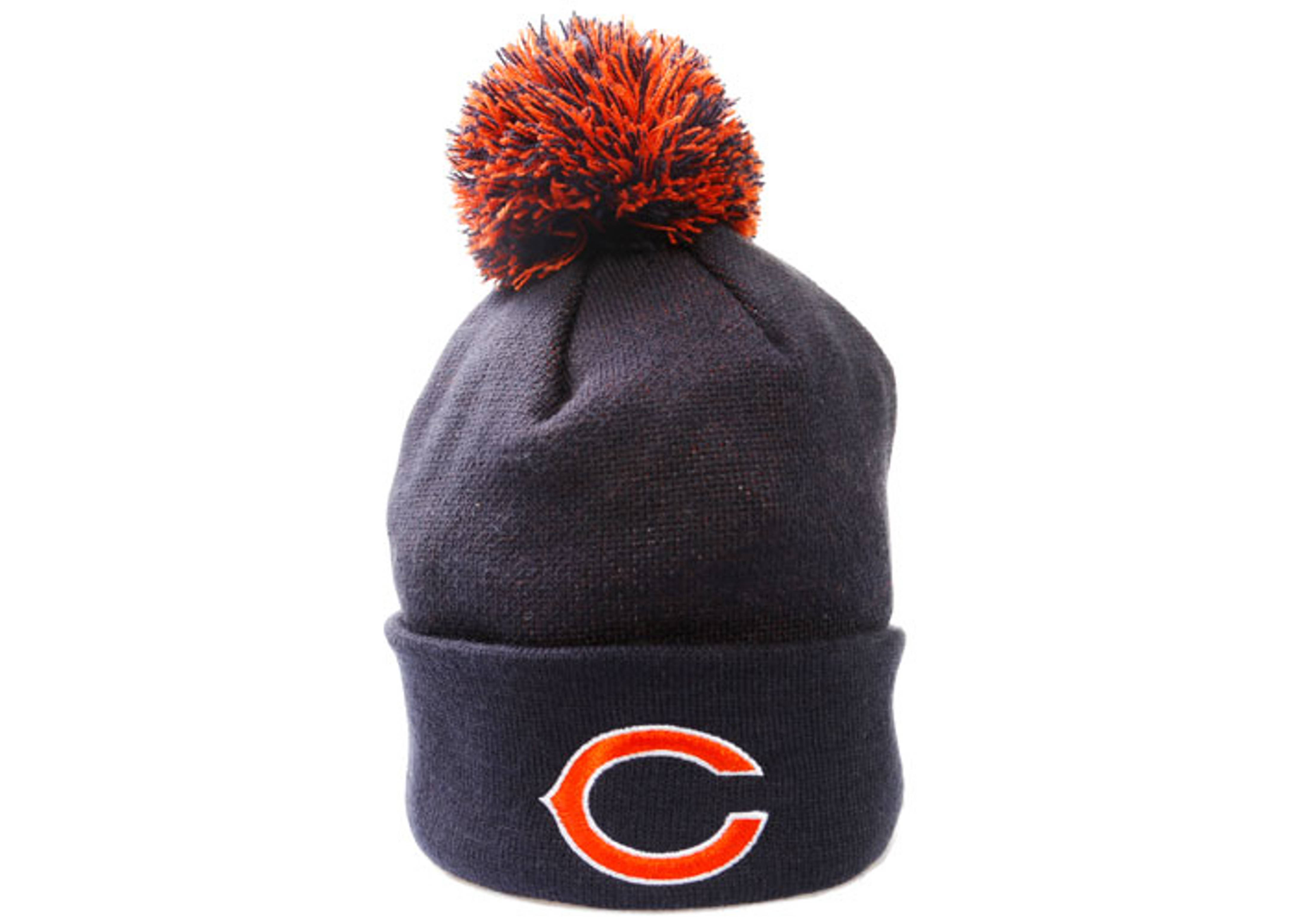 "chicago bears cuffed pom knit beanie ""superbowl patches"""