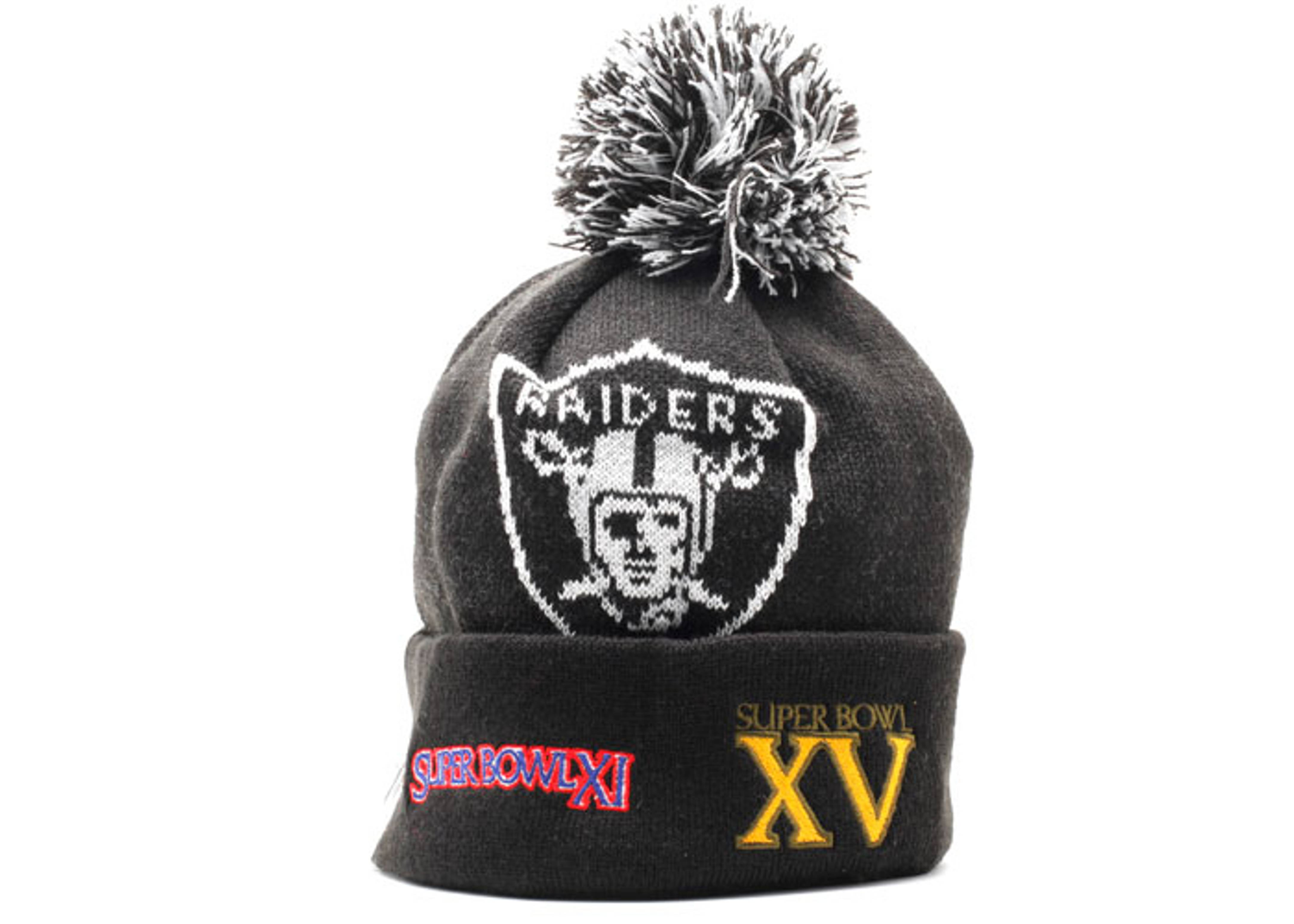 604fb856f9441e Oakland Raiders Cuffed Pom Knit Beanie