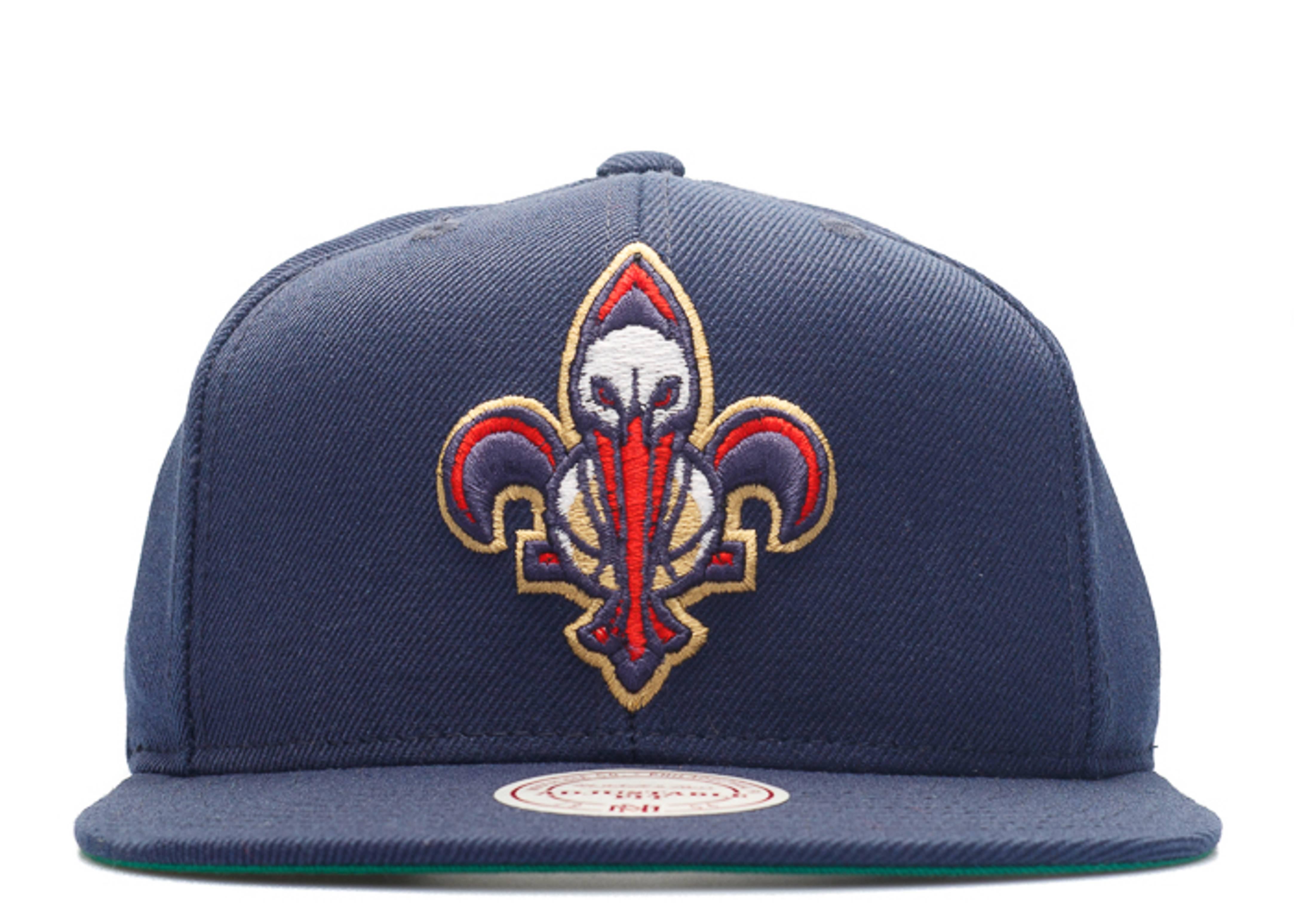 New Orleans Pelicans Snap Back Mitchell Ness Nt78tpc5pelic Navy Gold Wht Rd Flight Club