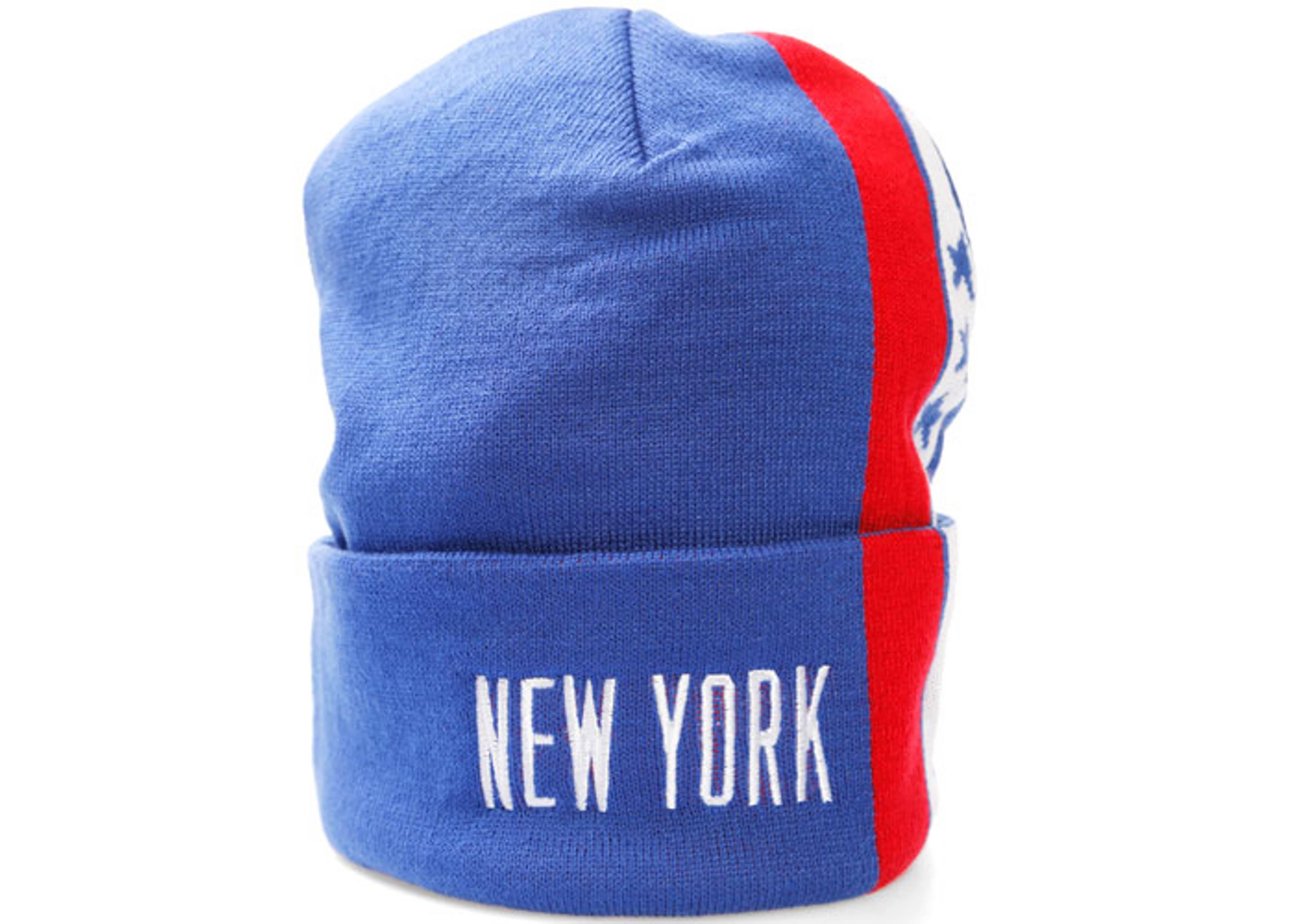 new york nets cuffed knit beanie