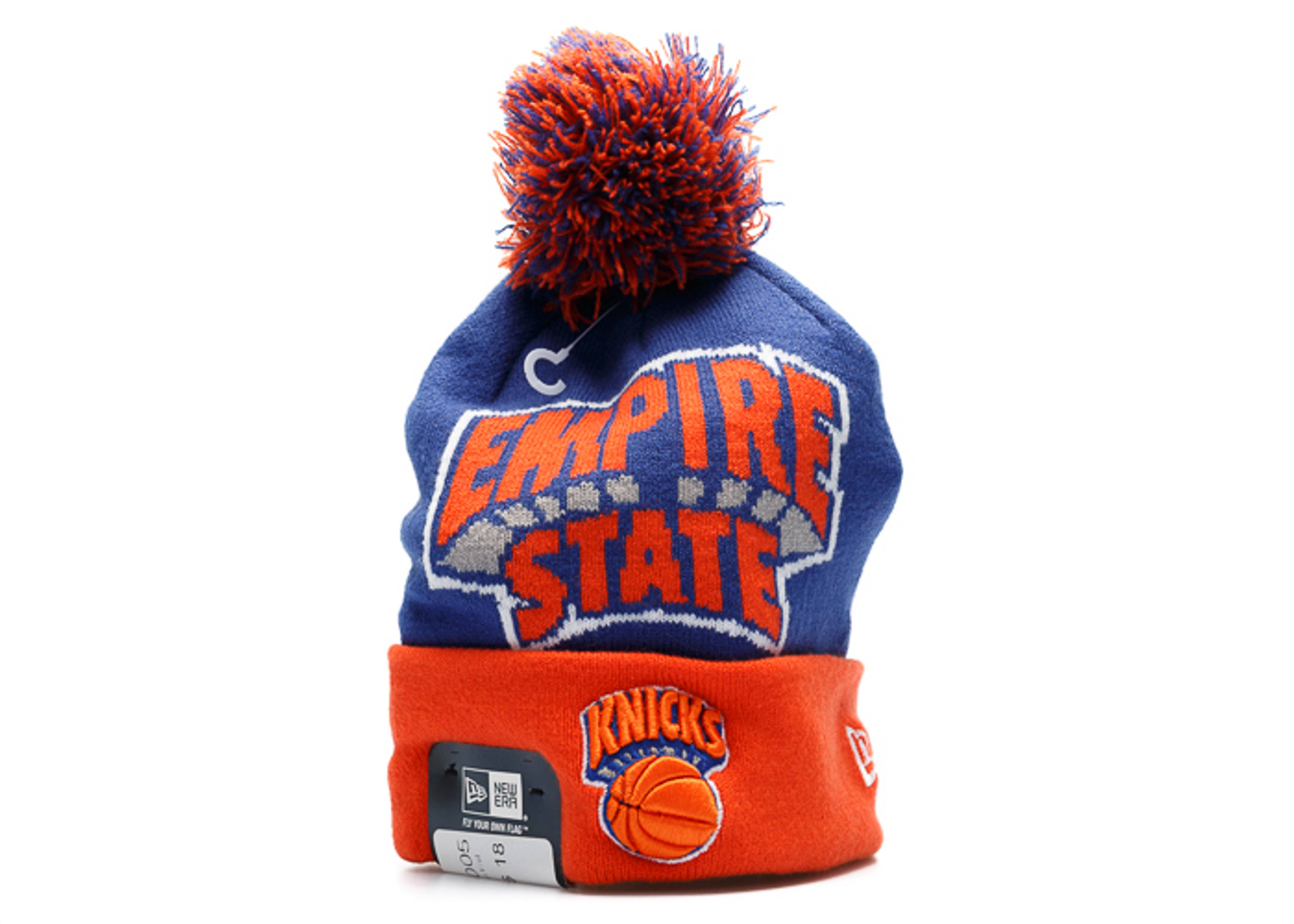 new york knicks cuffed pom knit beanie