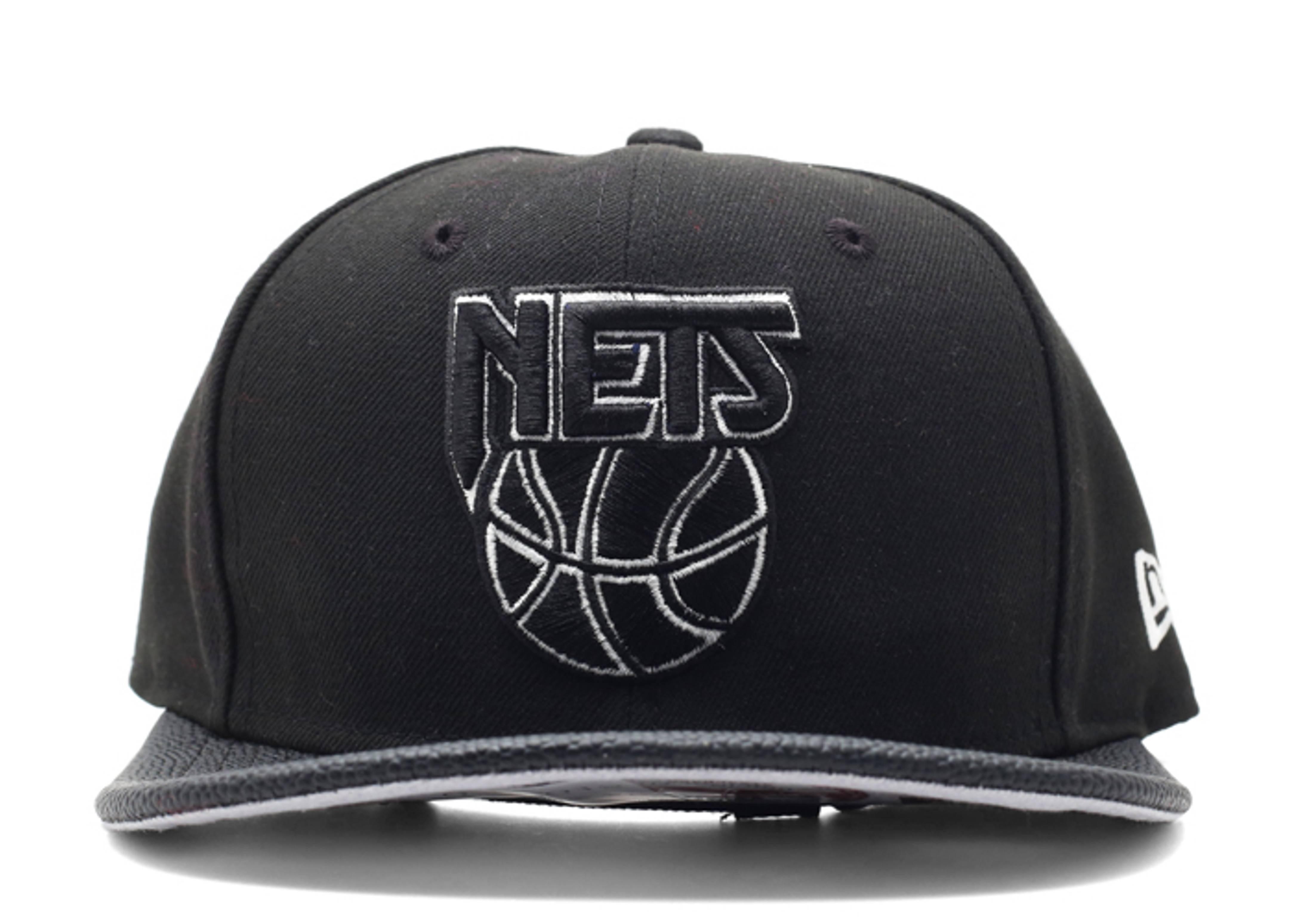 "new jersey nets strap-back ""basketball brim"""
