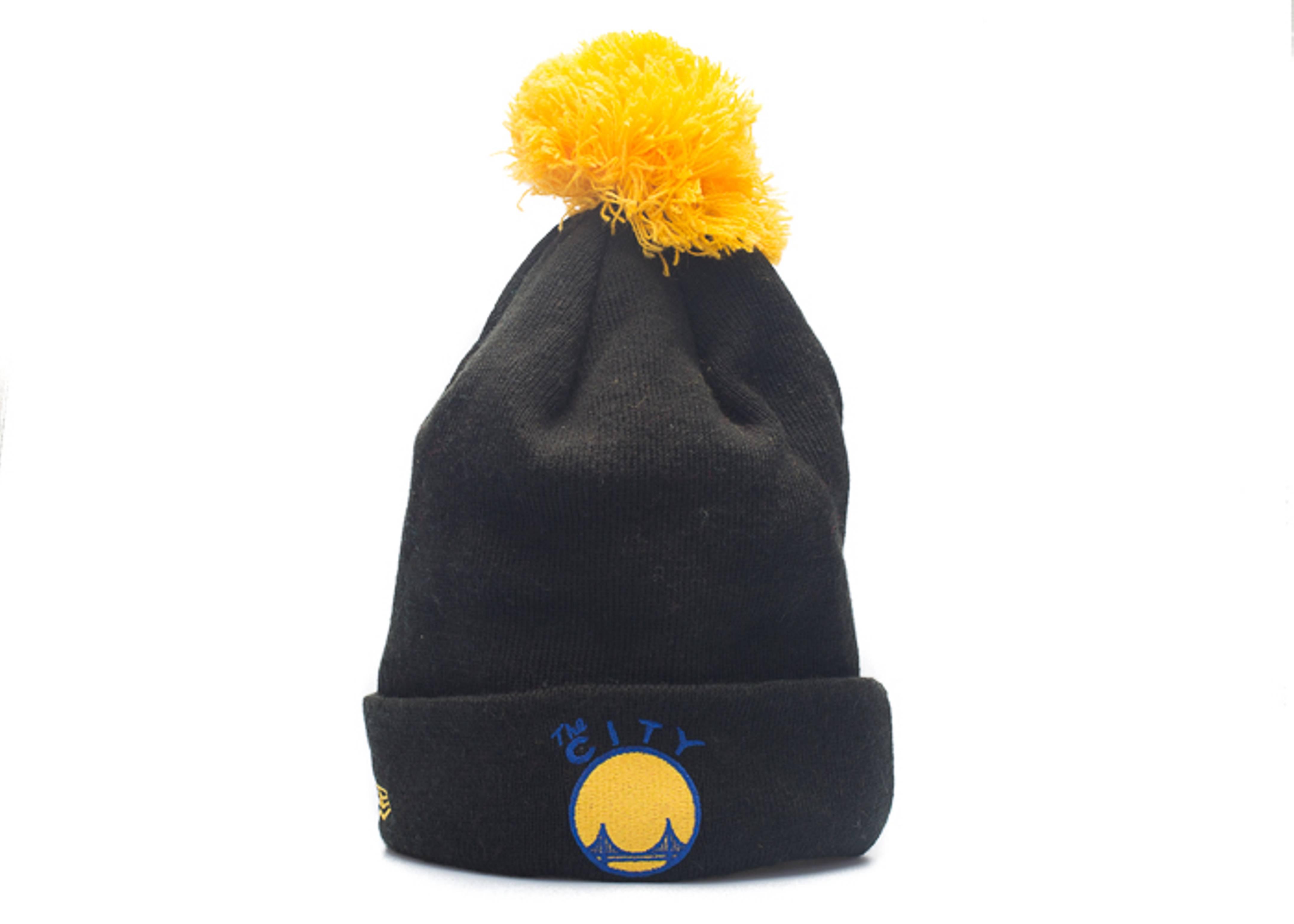 "golden state warriors cuffed pom knit beanie ""3m logo"""
