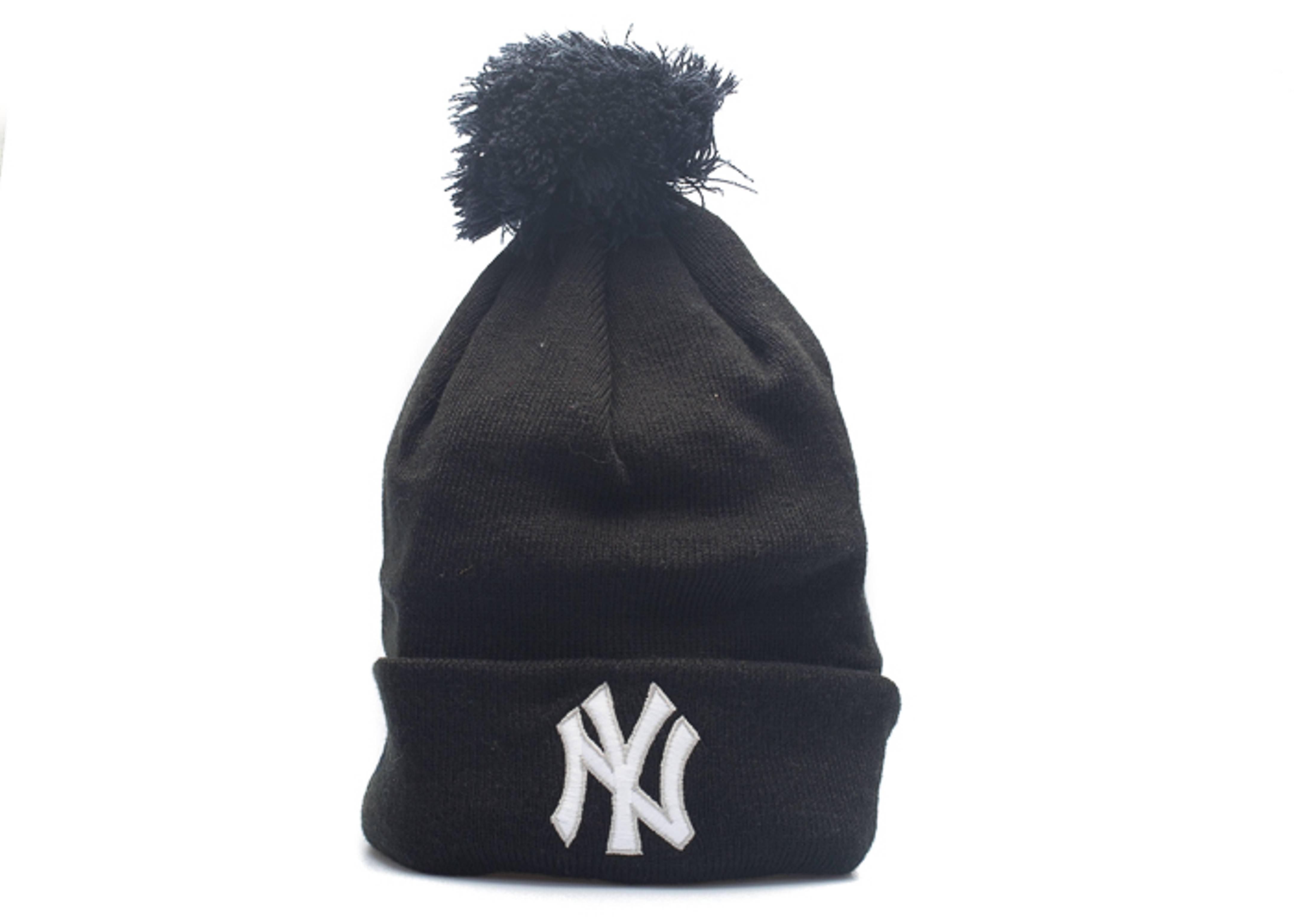 "new york yankees cuffed pom knit beanie ""3m logo"""
