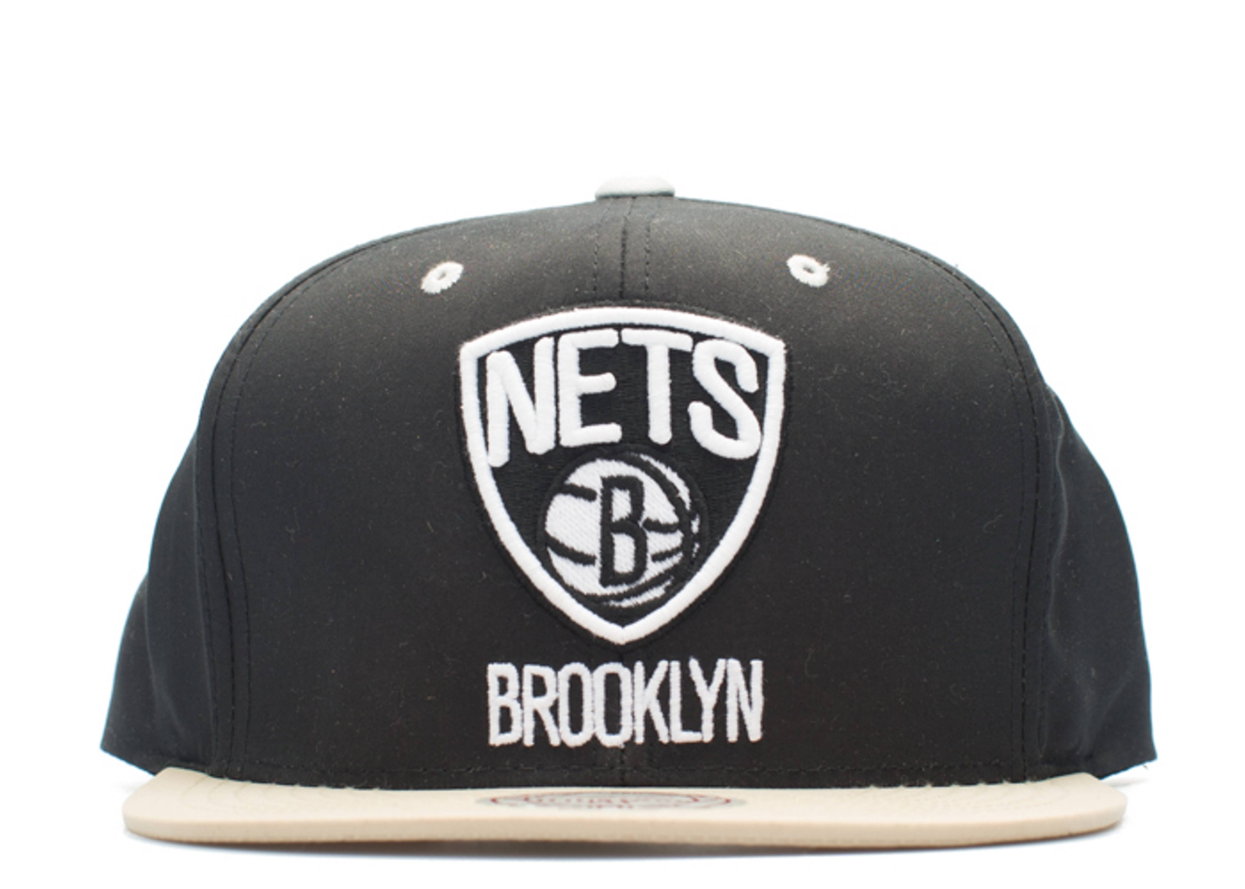 brooklyn nets butter nylon strap-back