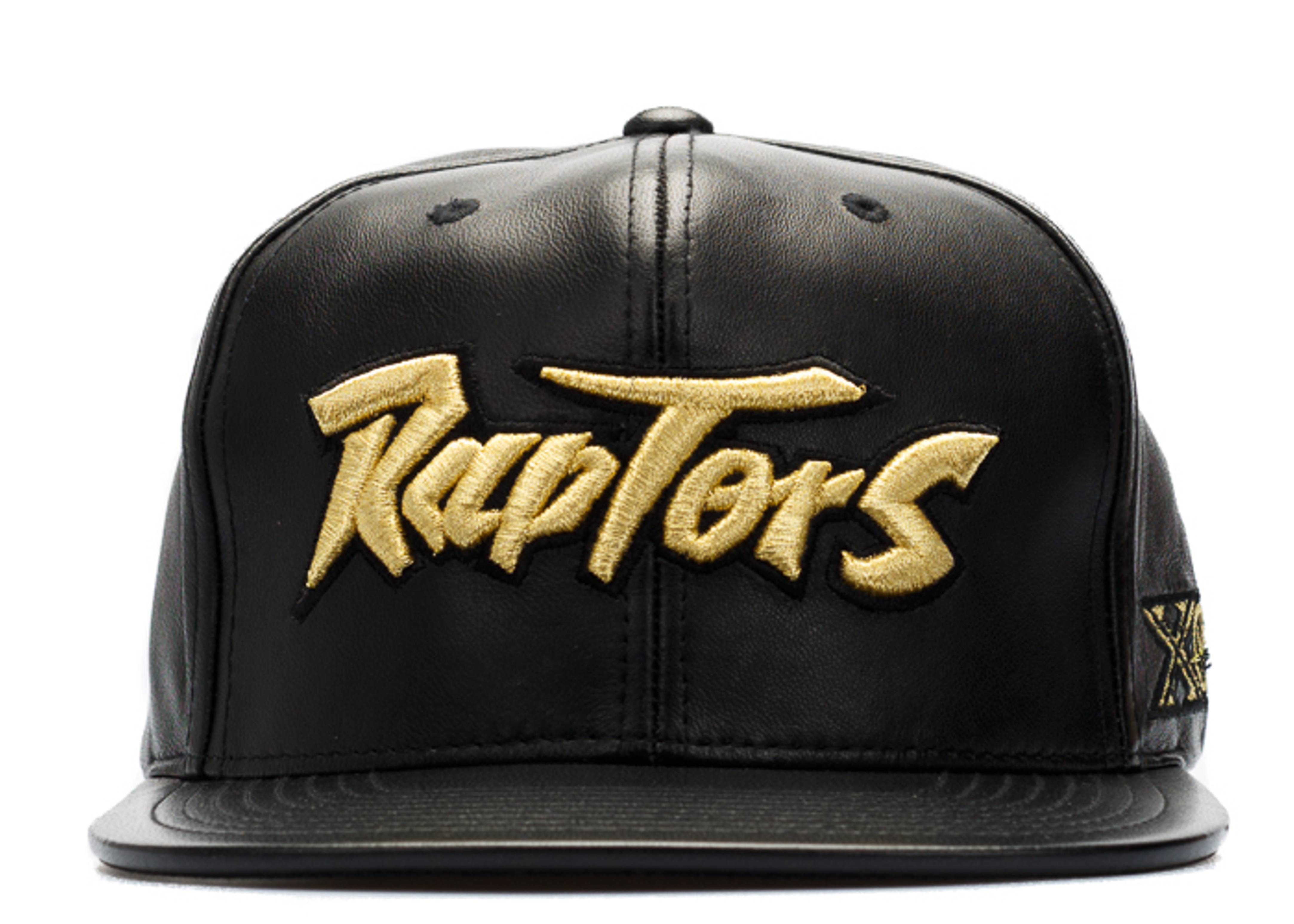 toronto raptors leather snap-back