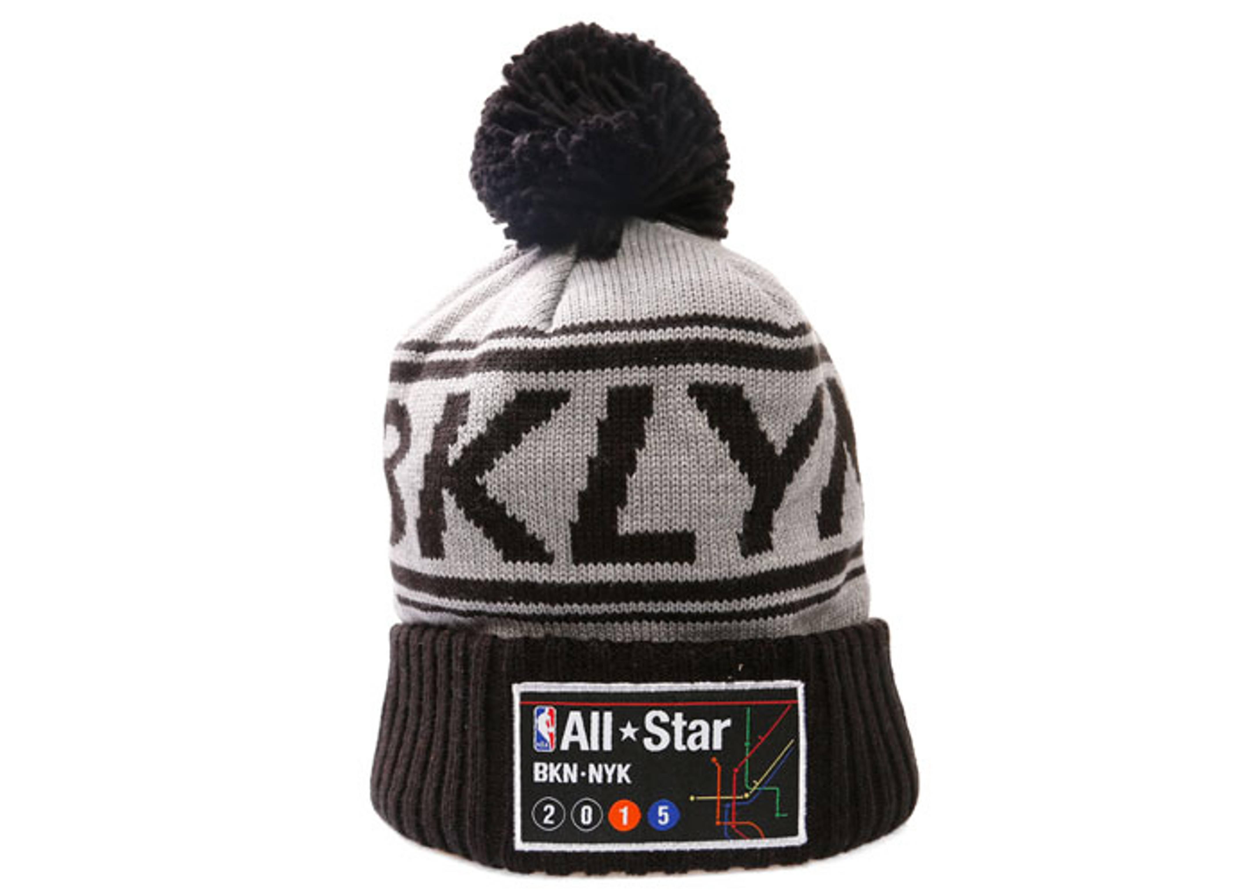nyc all-star game 2015 cuffed pom knit beanie