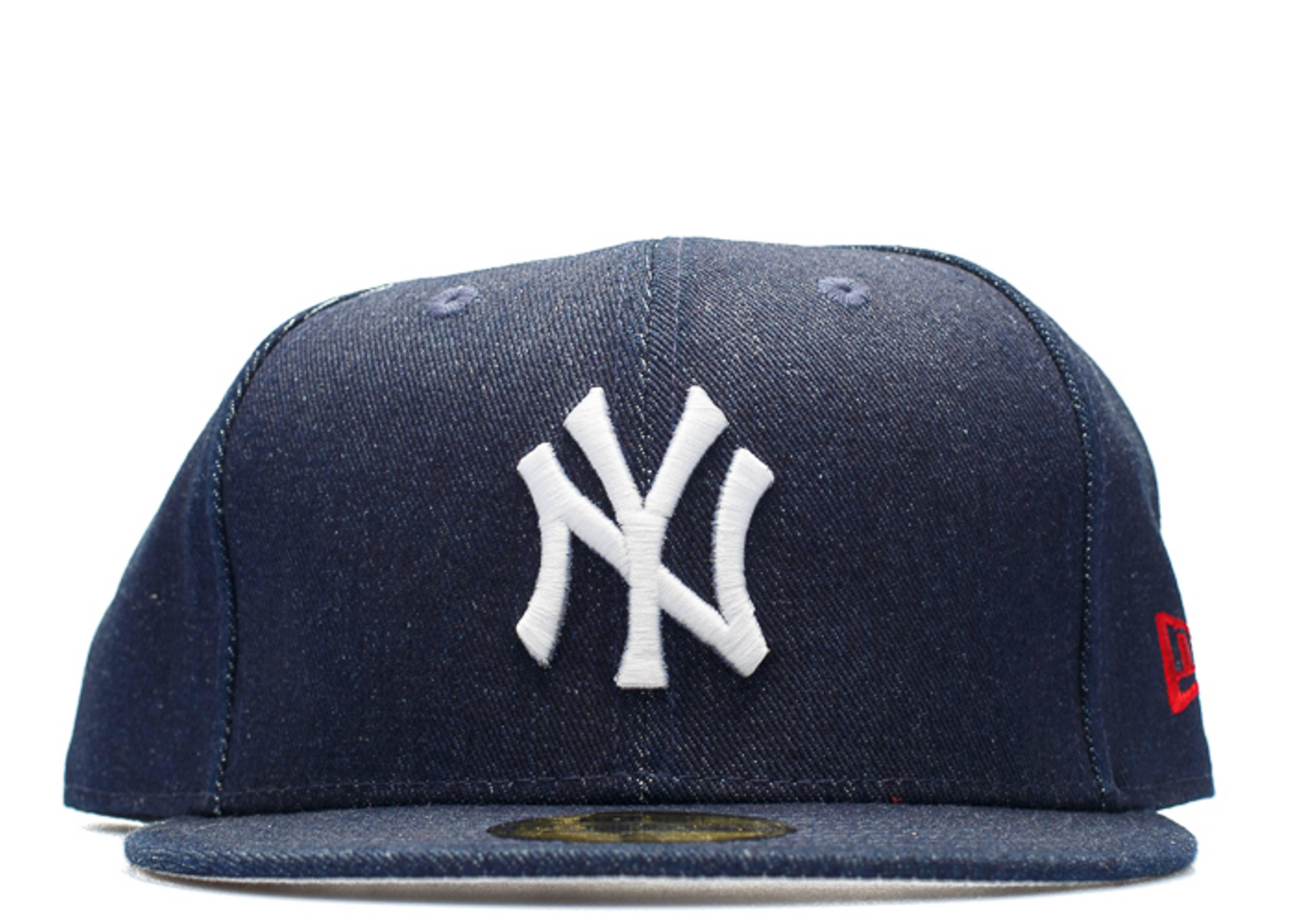 "new york yankee denim fitted ""japan flag"""