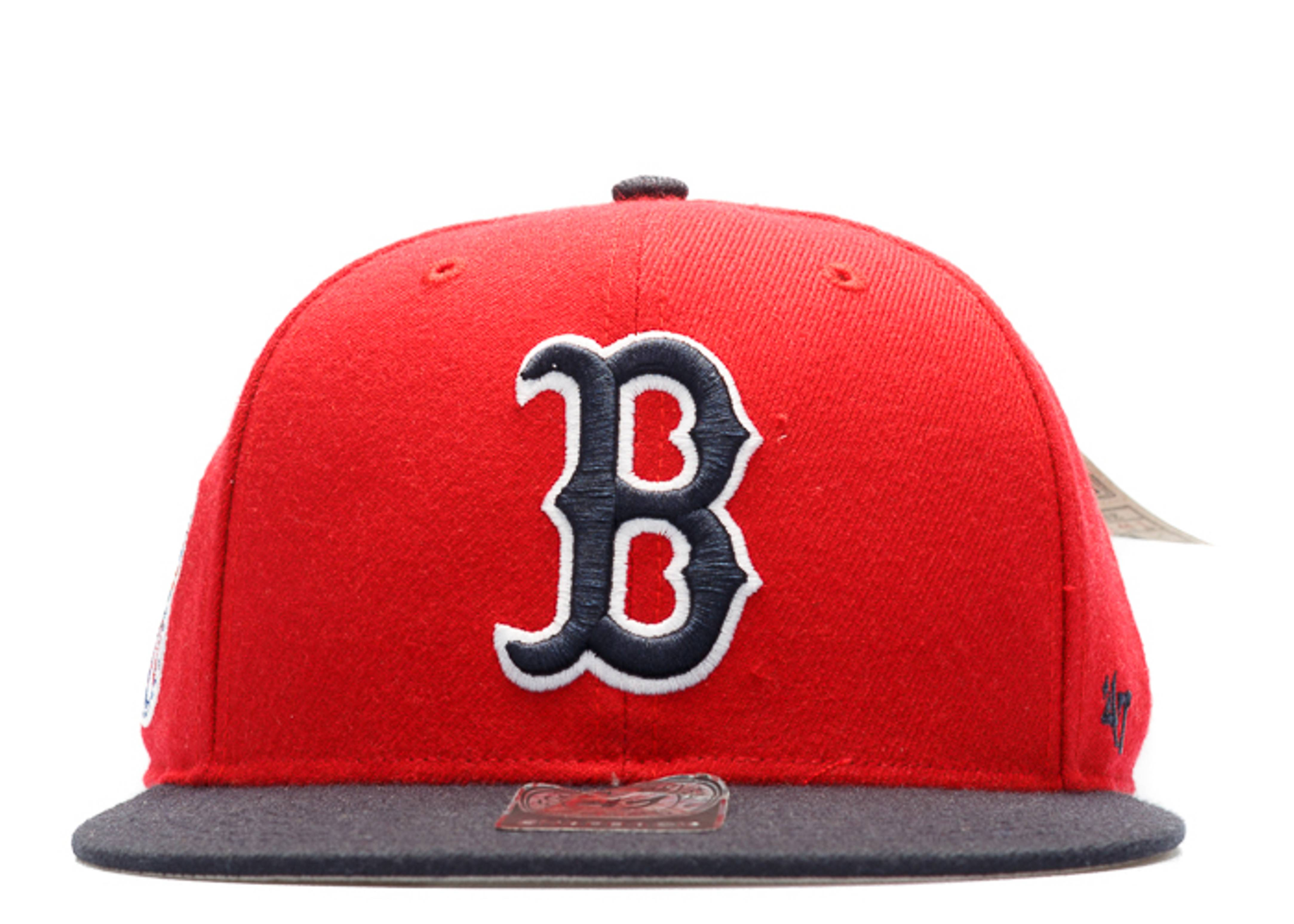 """boston red sox snap-back """"american league side patch"""""""