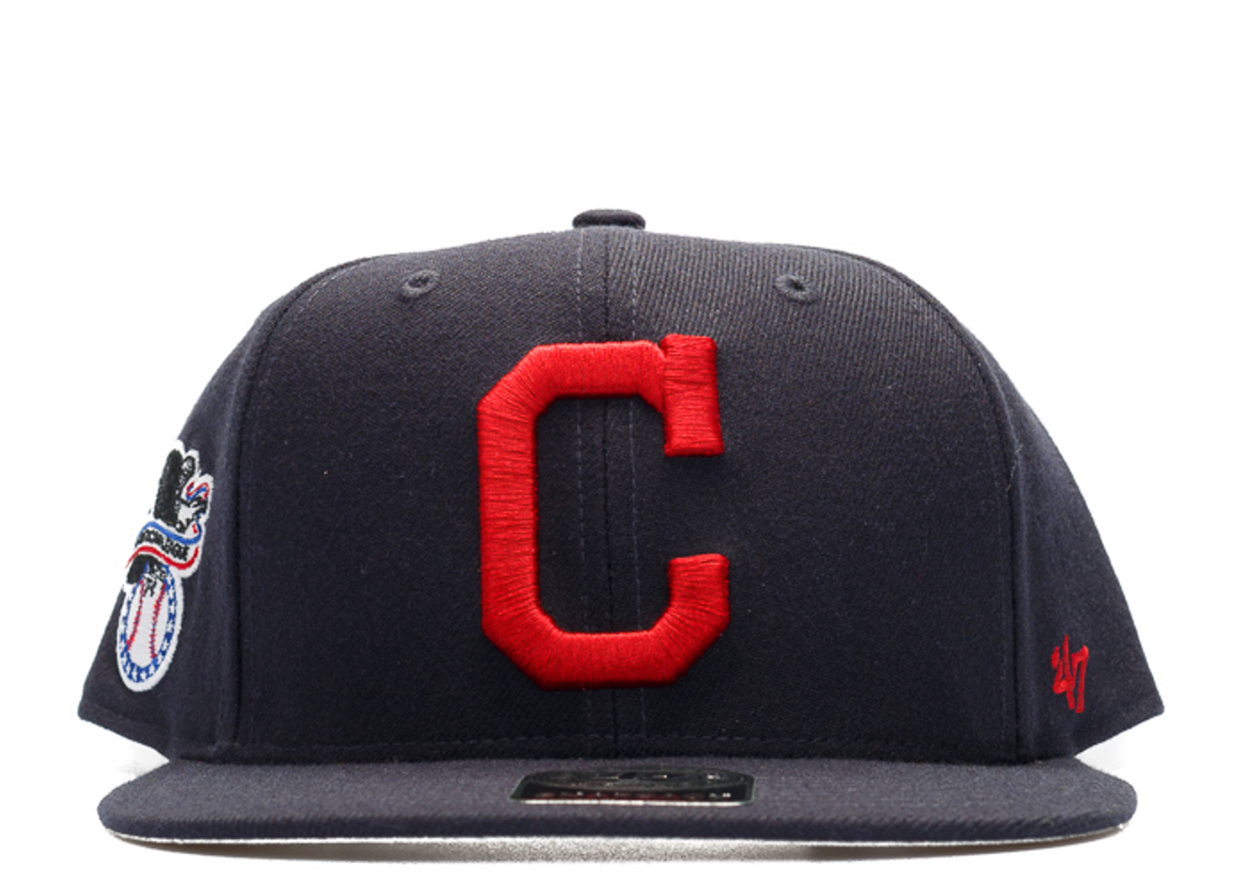 "cleveland indians snap-back ""american league side patch"""