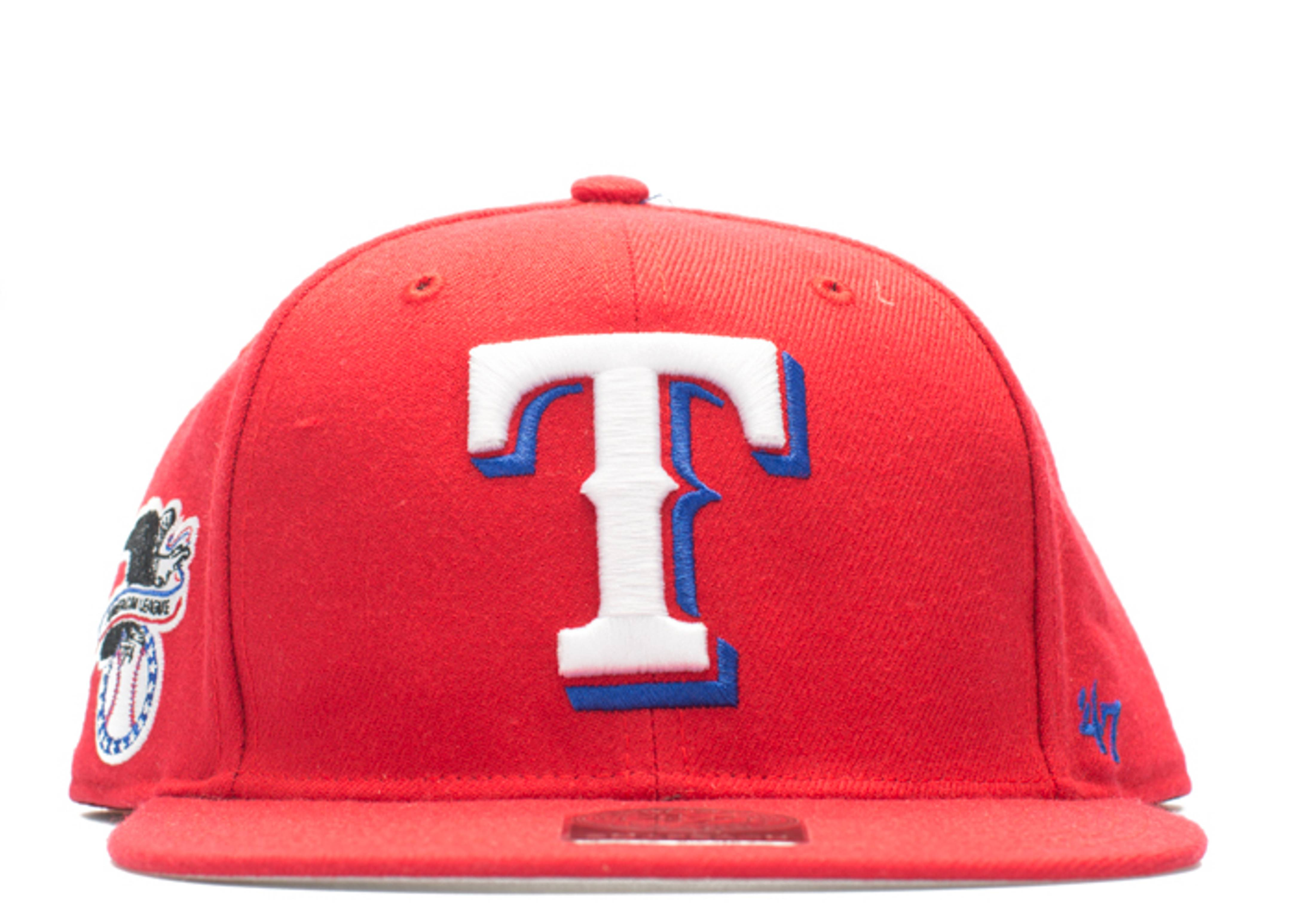 """texas rangers snap-back """"american league side patch"""""""
