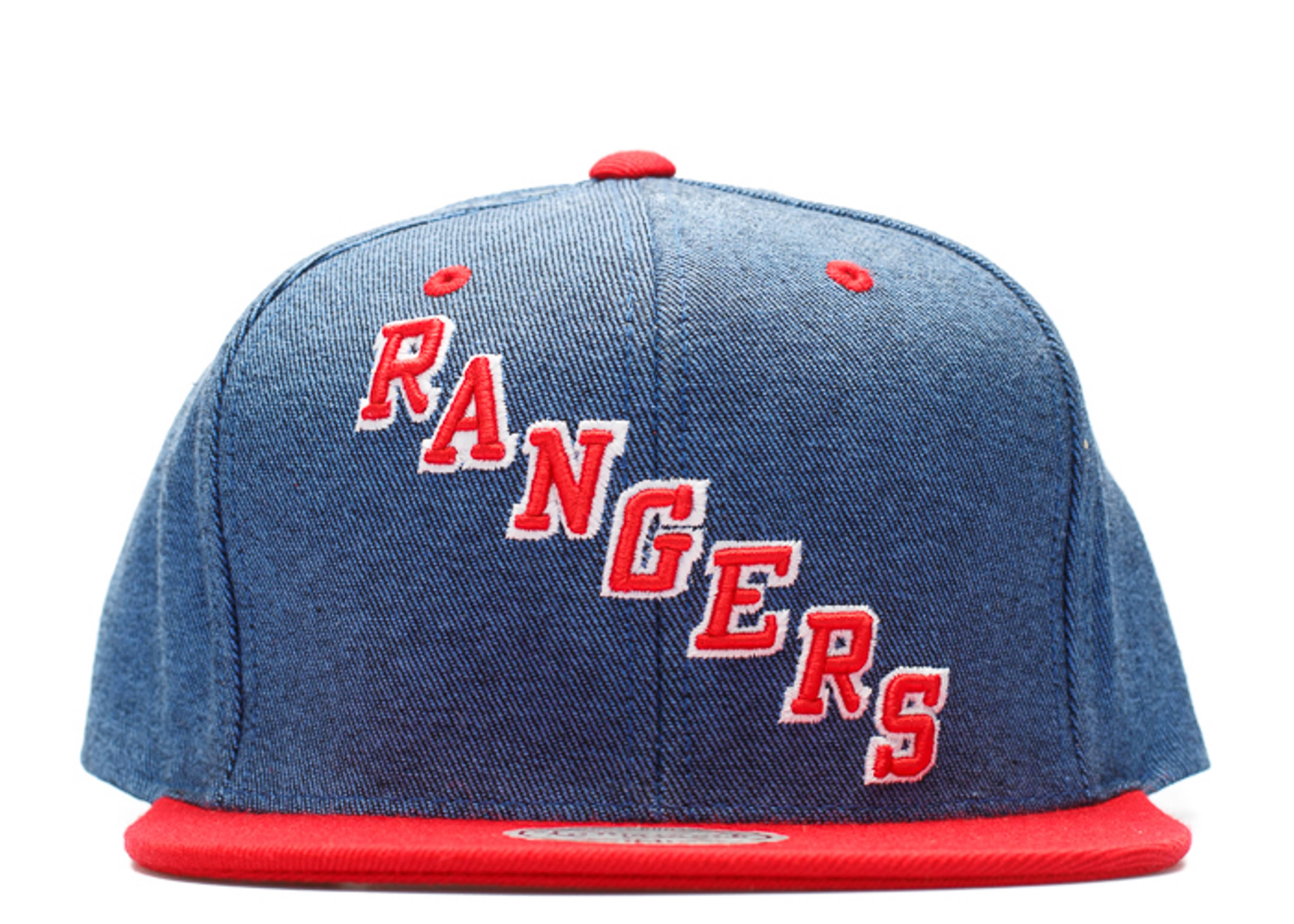 new york rangers denim snap-back
