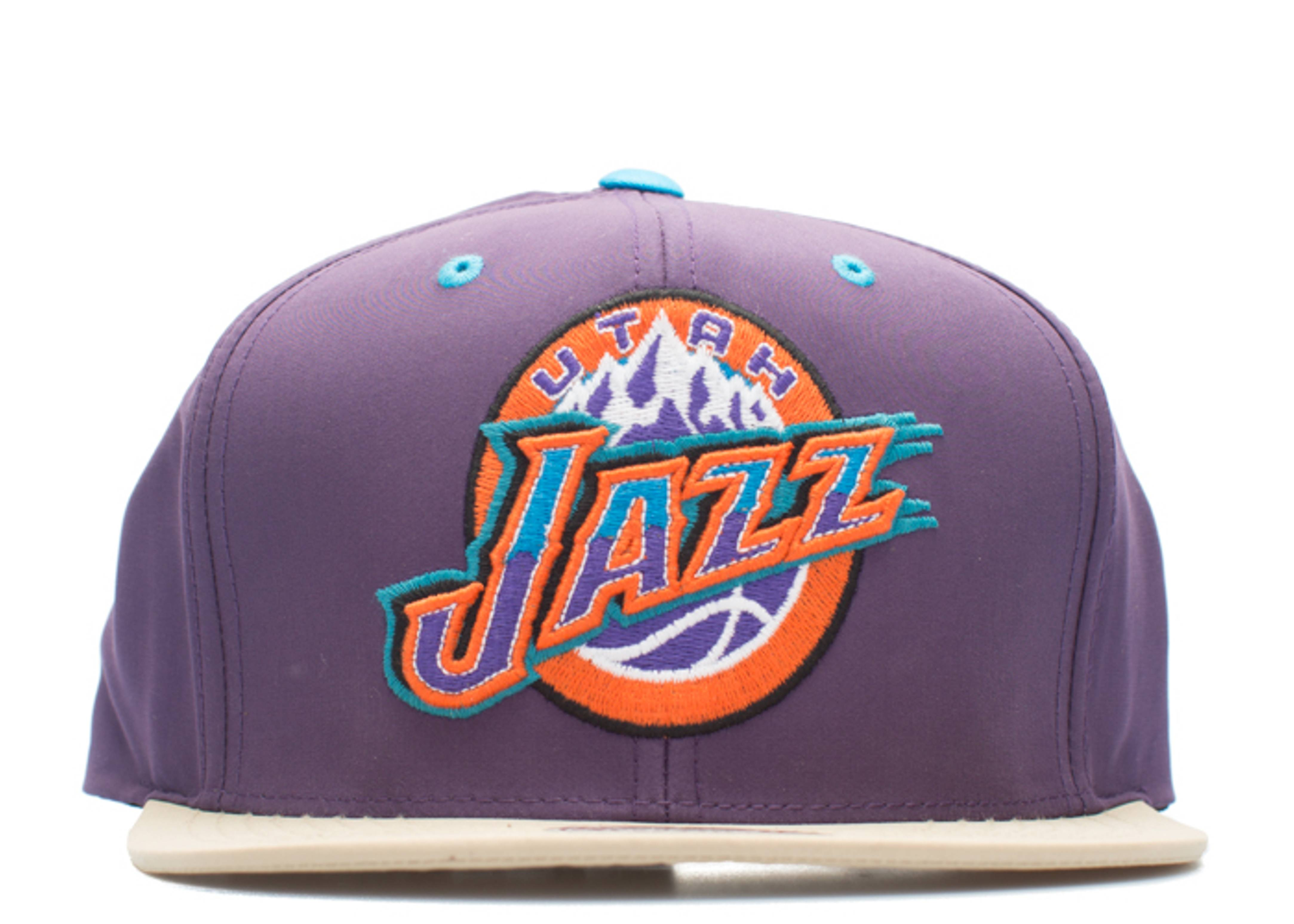 utah jazz butter nylon strap-back