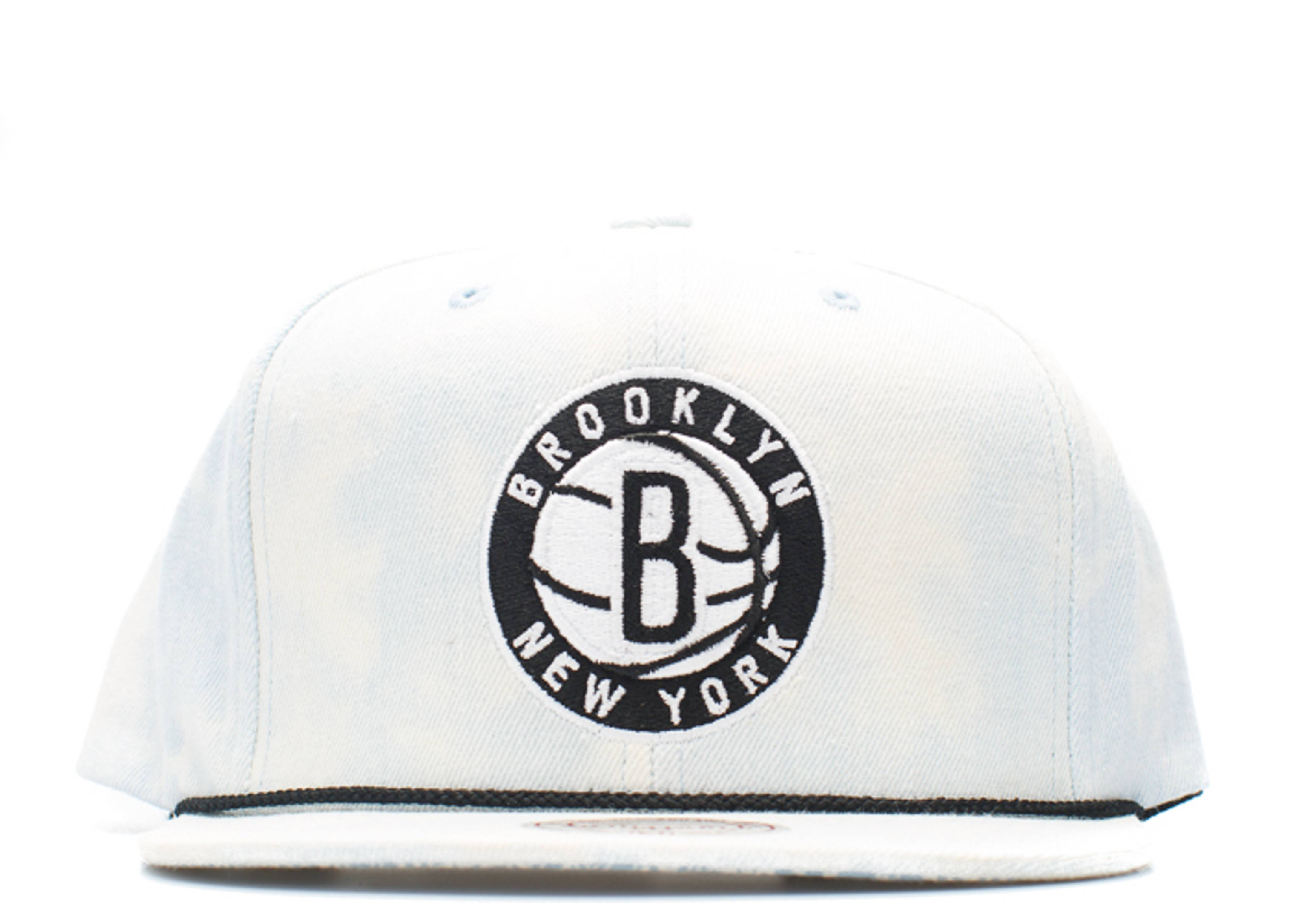 "brooklyn nets snap-back ""lite acid wash"""