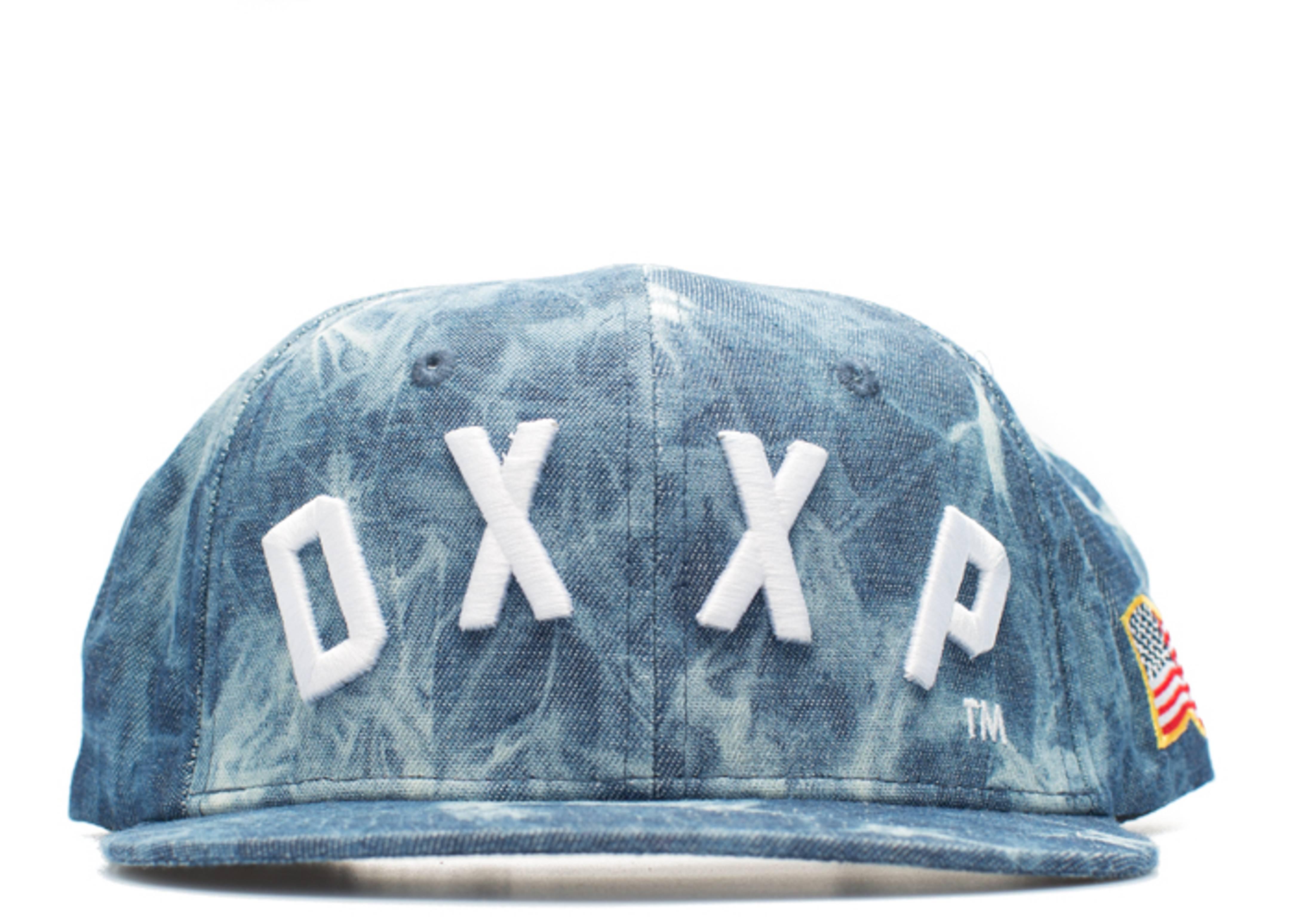 dxxp denim acid wash snap-back