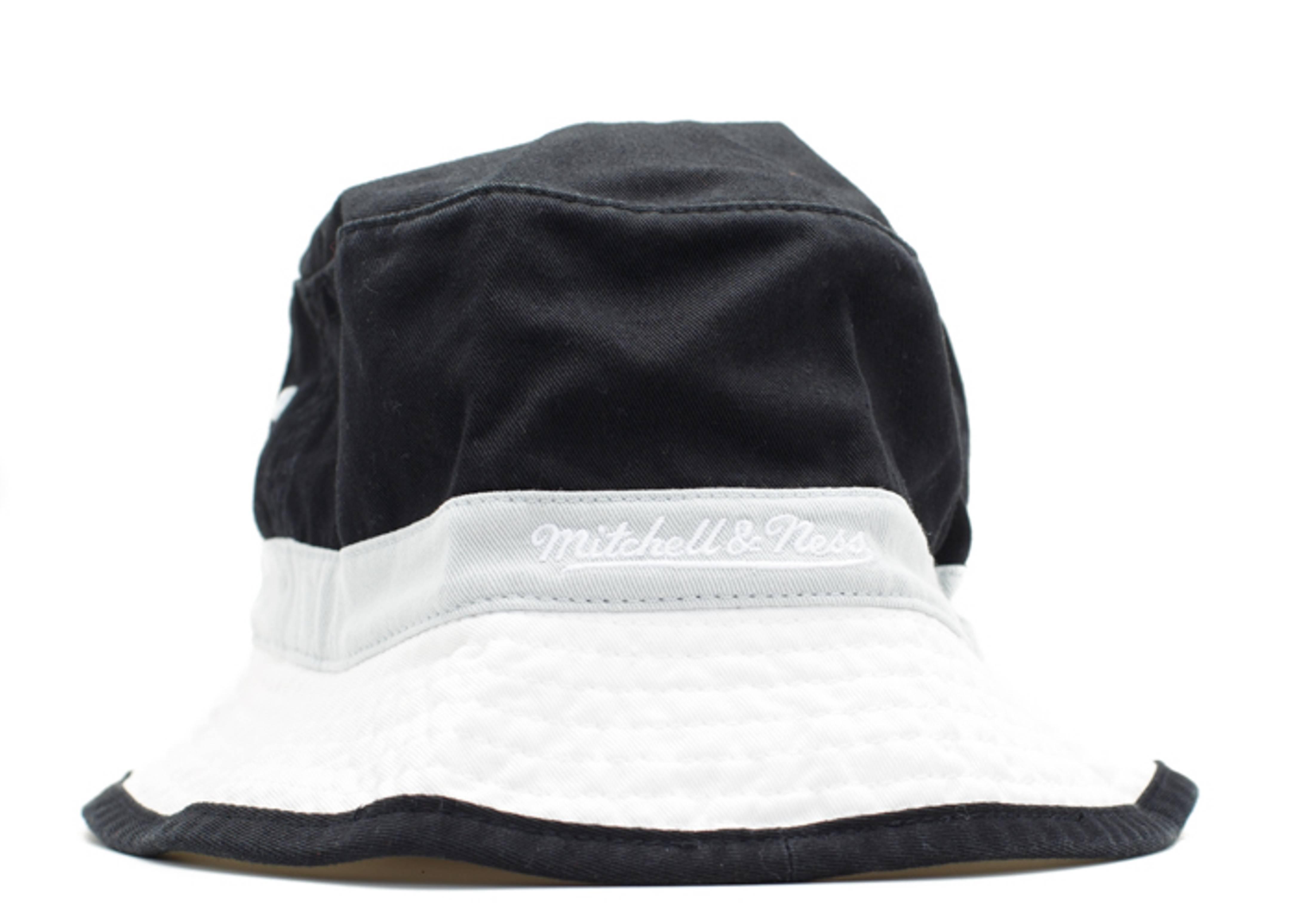 569ca75ed8f Brooklyn Nets Bucket Hat - Mitchell   Ness - u128mtc5bnets - black ...