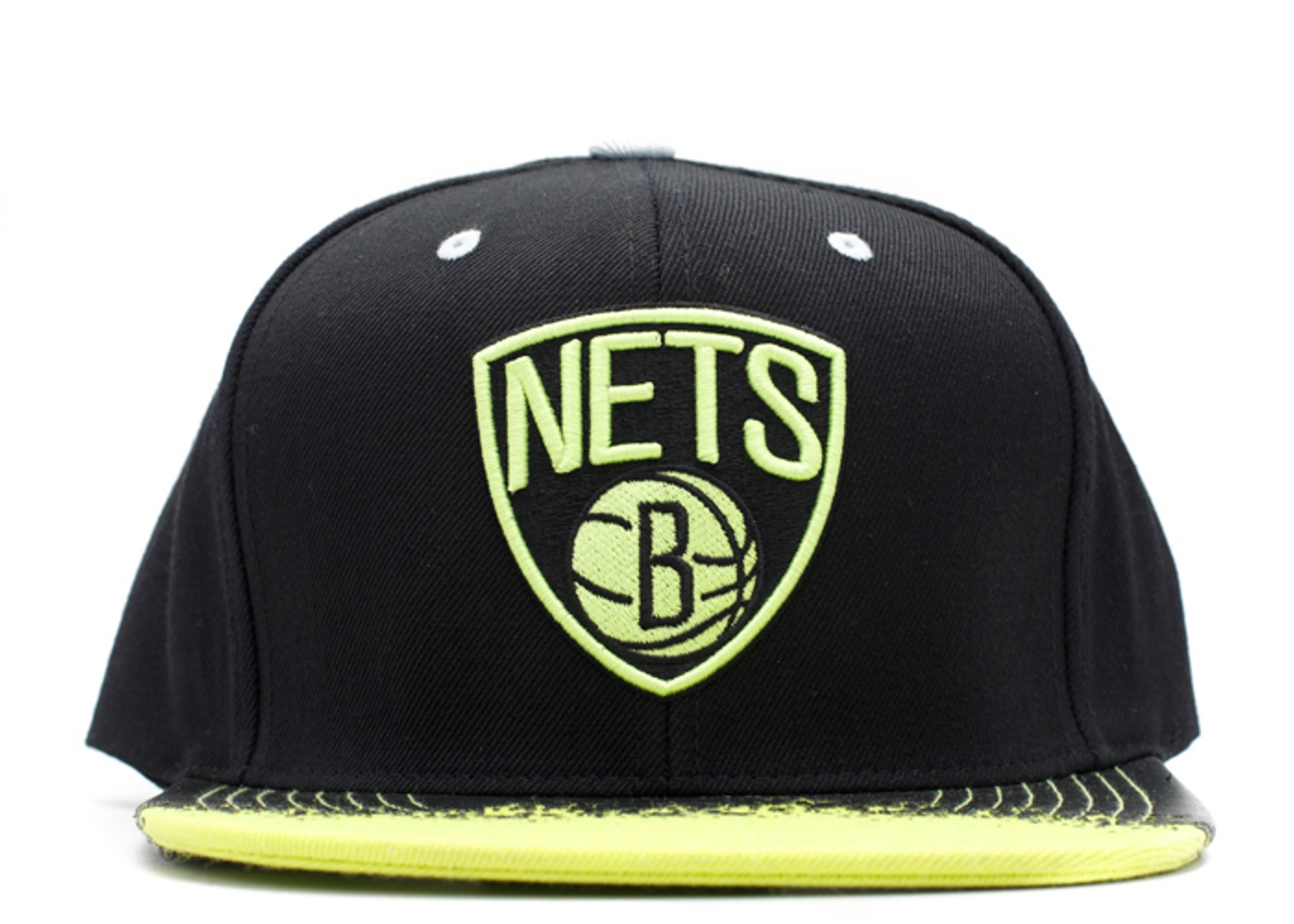 "brooklyn nets snap-back ""lime brim"""