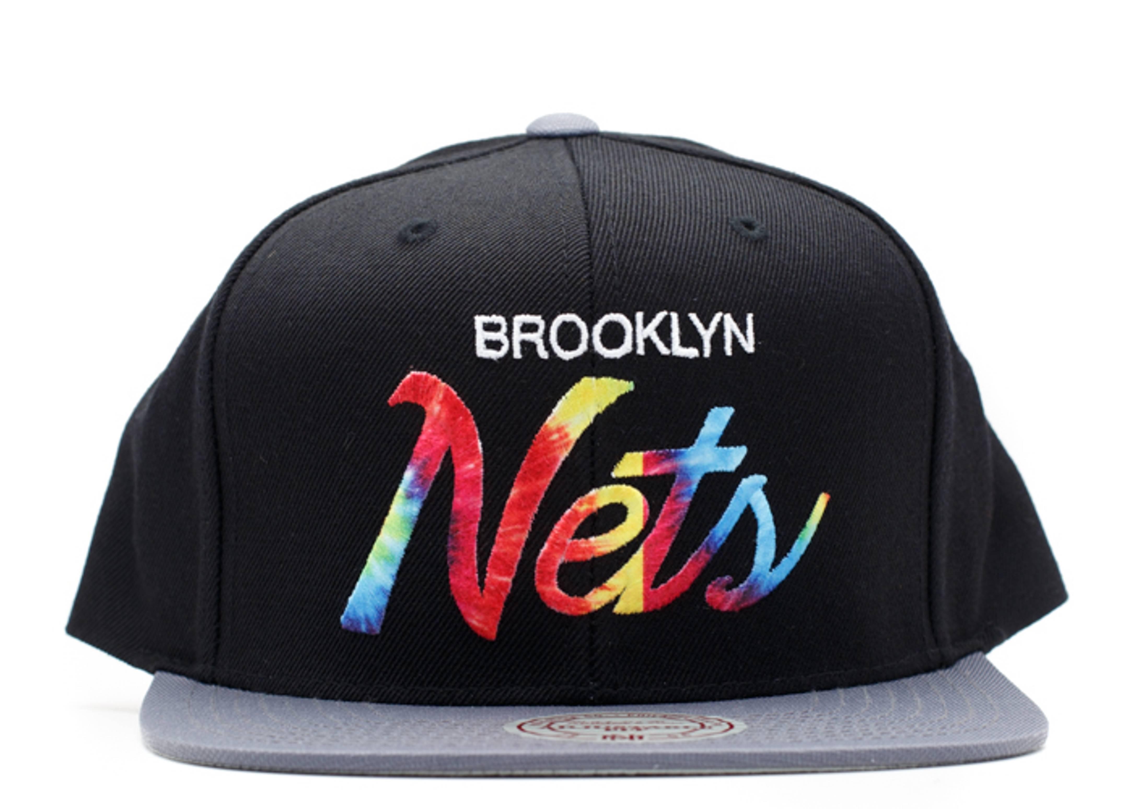 """brooklyn nets snap-back """"tie dye"""""""