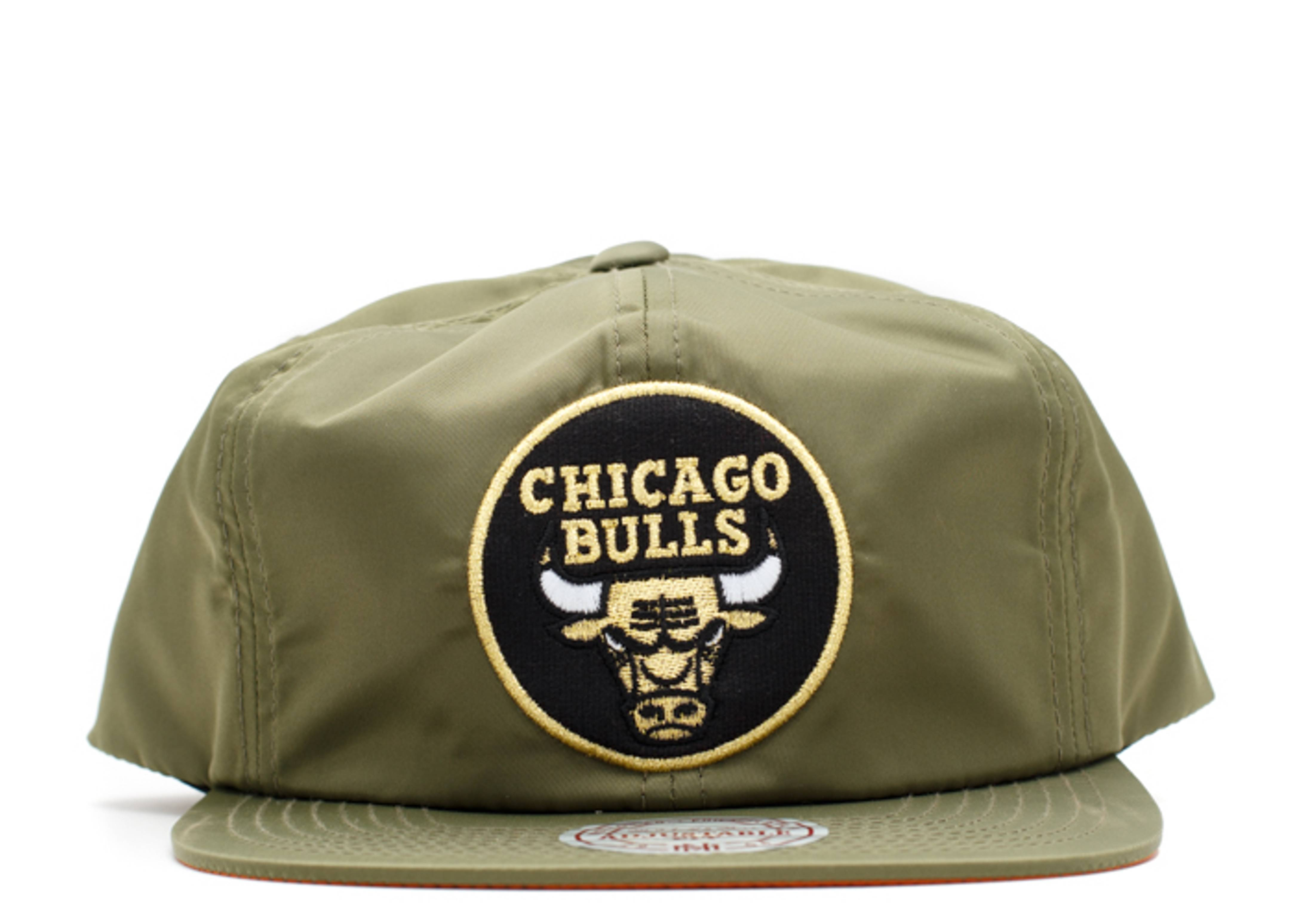 chicago bulls nylon snap-back